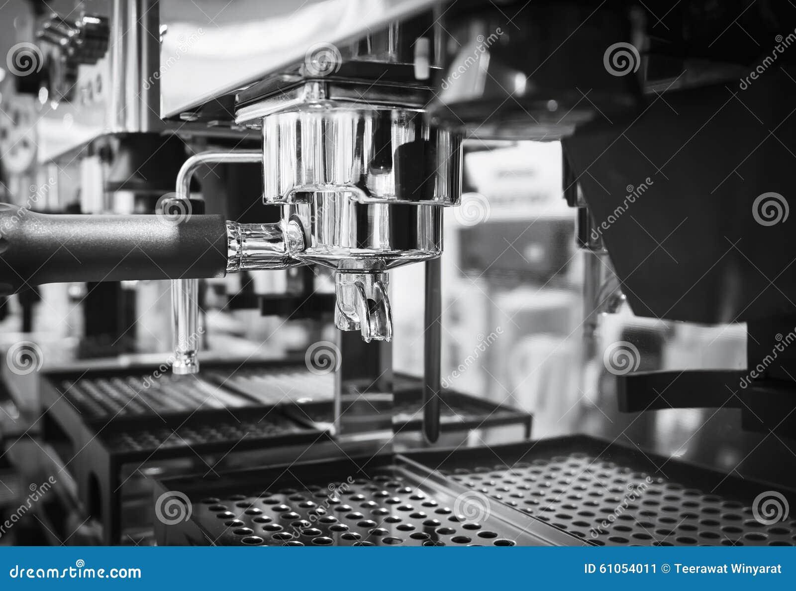Kaffeemaschine Caférestaurant Schwarzweiss