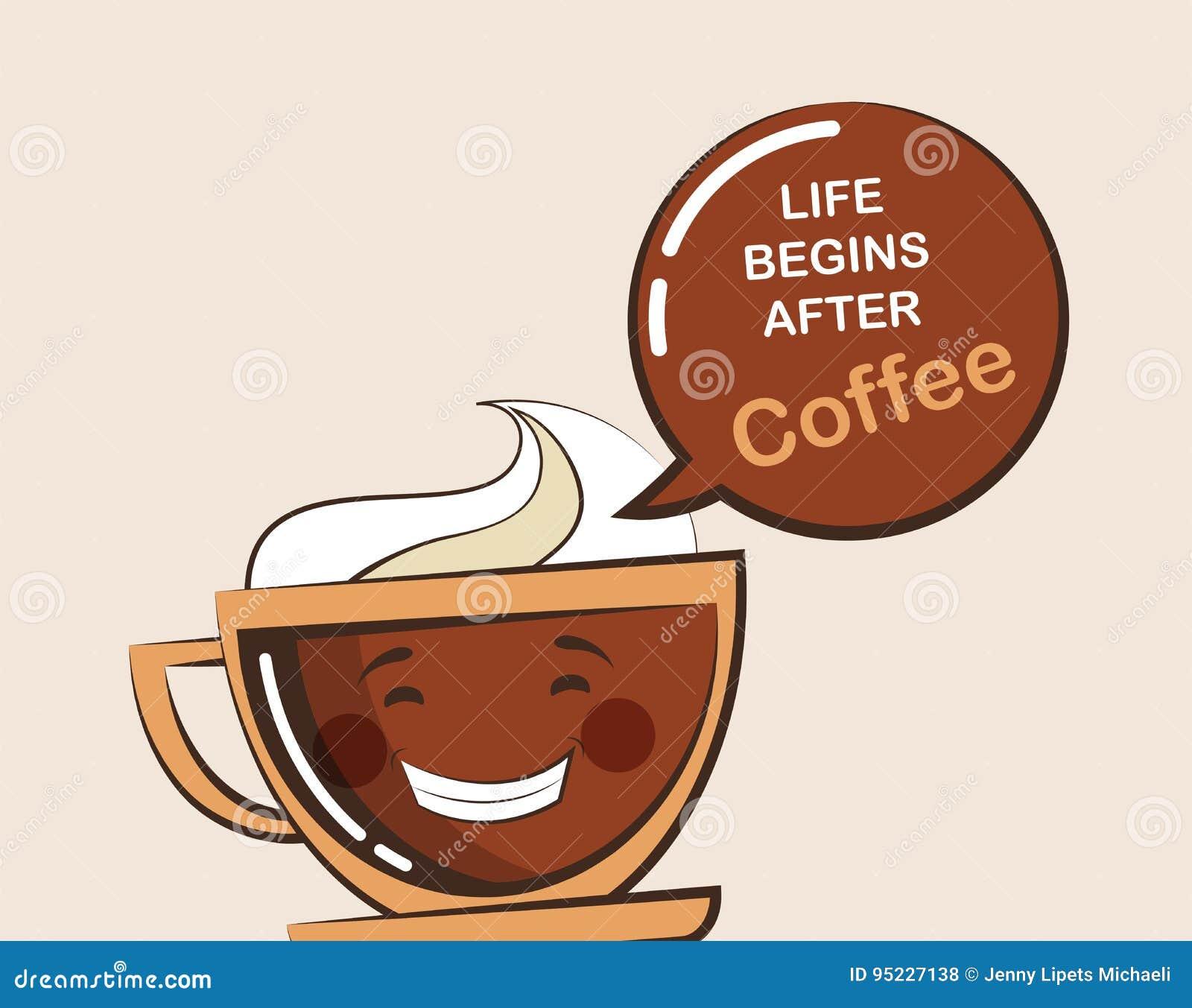 Kaffeemojikopp med roligt citationstecken