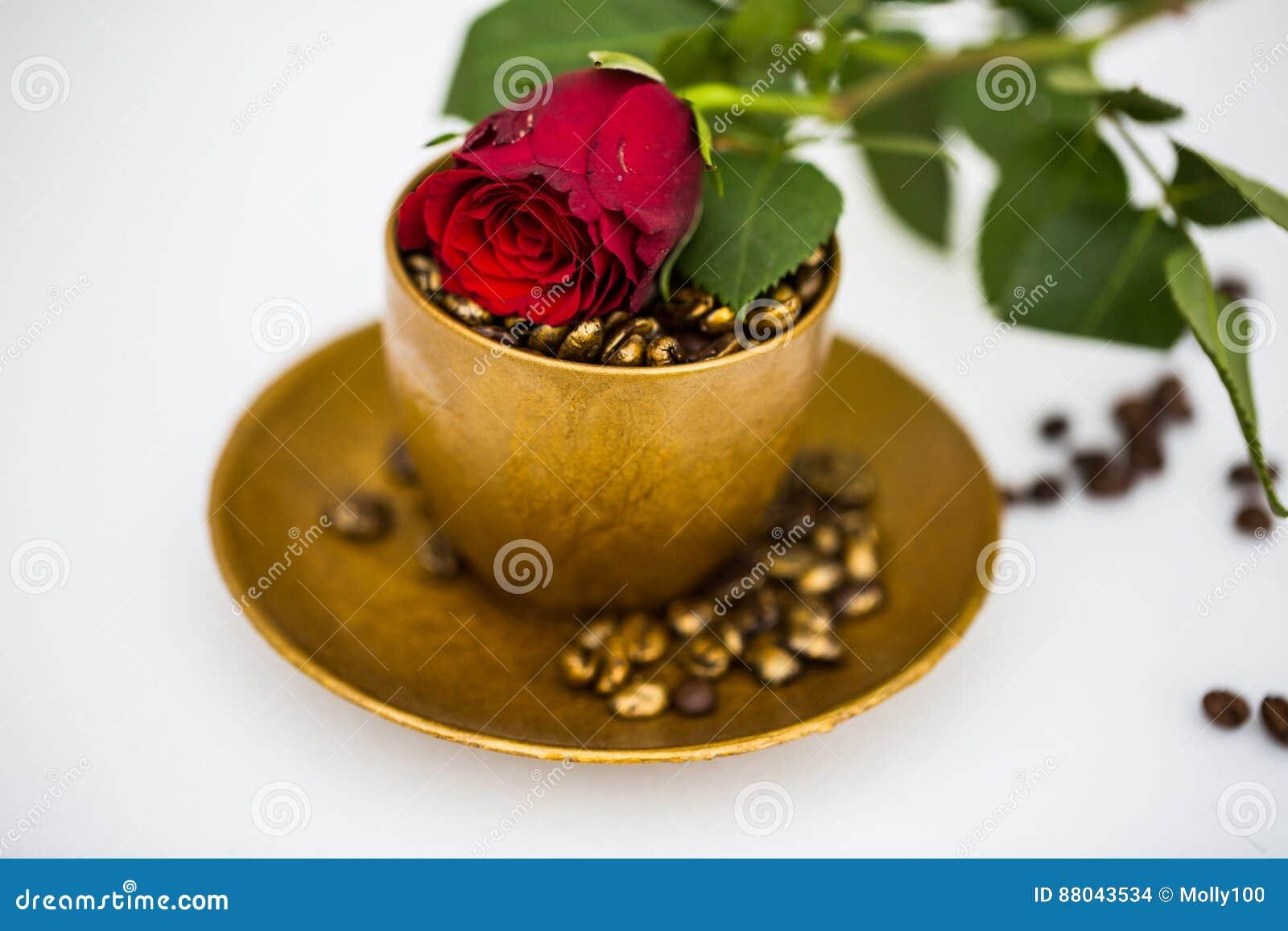 Kaffeetasse Mit Rose Fur Geburtstag Valentinsgruss Romantisch