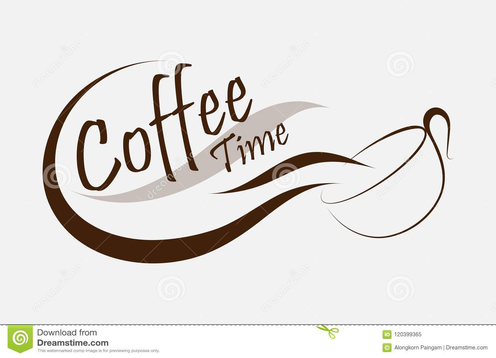 Kaffeezeitlogo-Vektordesign kreativ vom Kaffeelogo Kaffee s