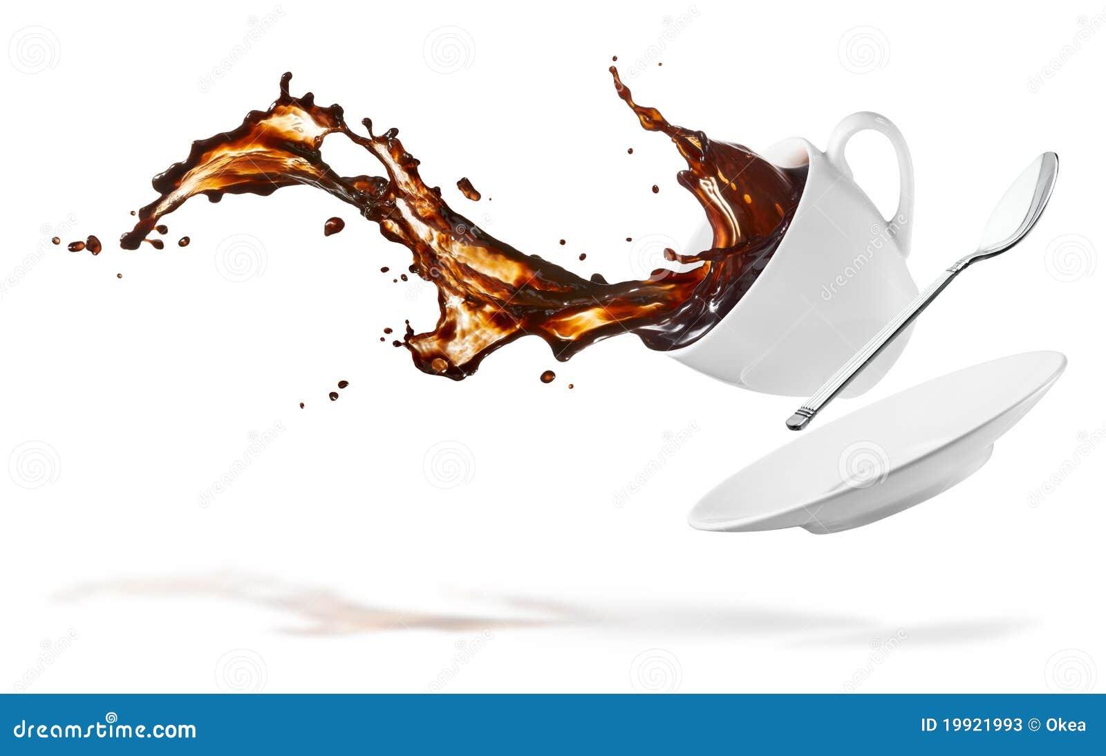 Kaffefärgstänk