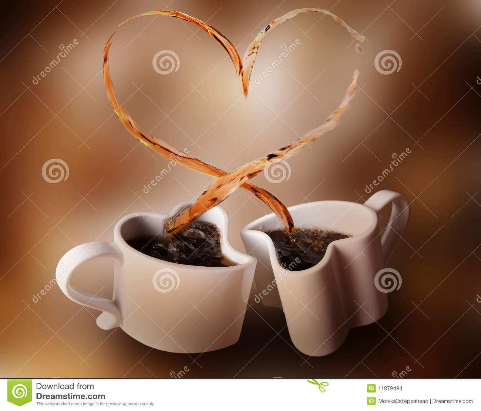 Kaffeförälskelsefärgstänk