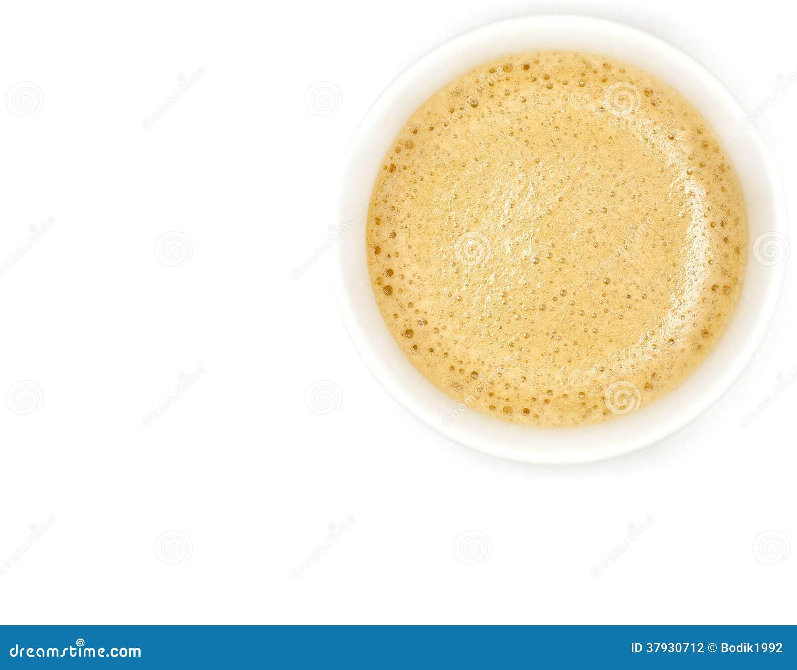 Kaffesamling.  Espressokopp. Isolerat på vit bakgrund