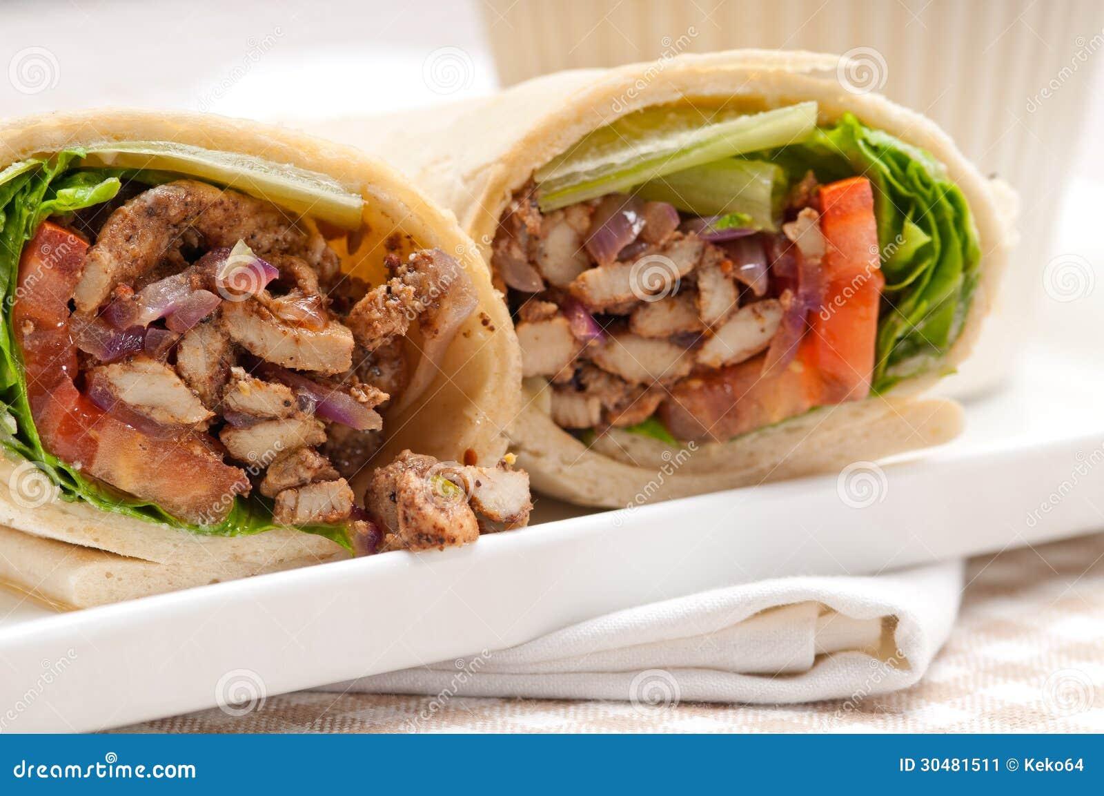 Chicken shawarma roll - photo#14