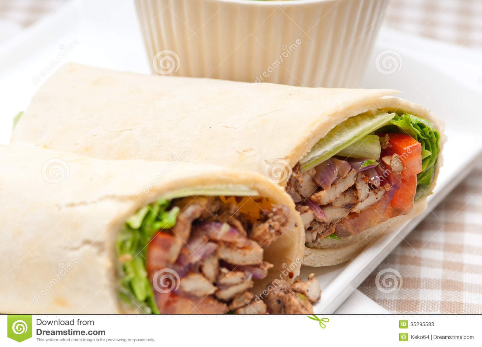 kafta shawarma chicken pita wrap roll sandwich stock image image 35295583. Black Bedroom Furniture Sets. Home Design Ideas