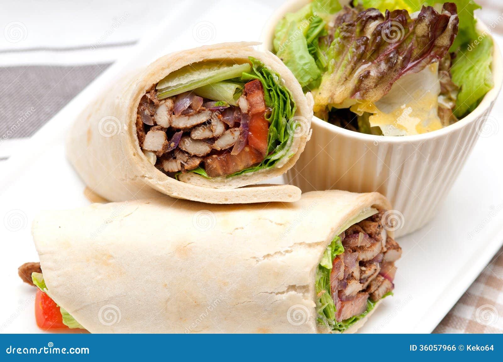 kafta shawarma chicken pita wrap roll sandwich stock photo image 36057966. Black Bedroom Furniture Sets. Home Design Ideas