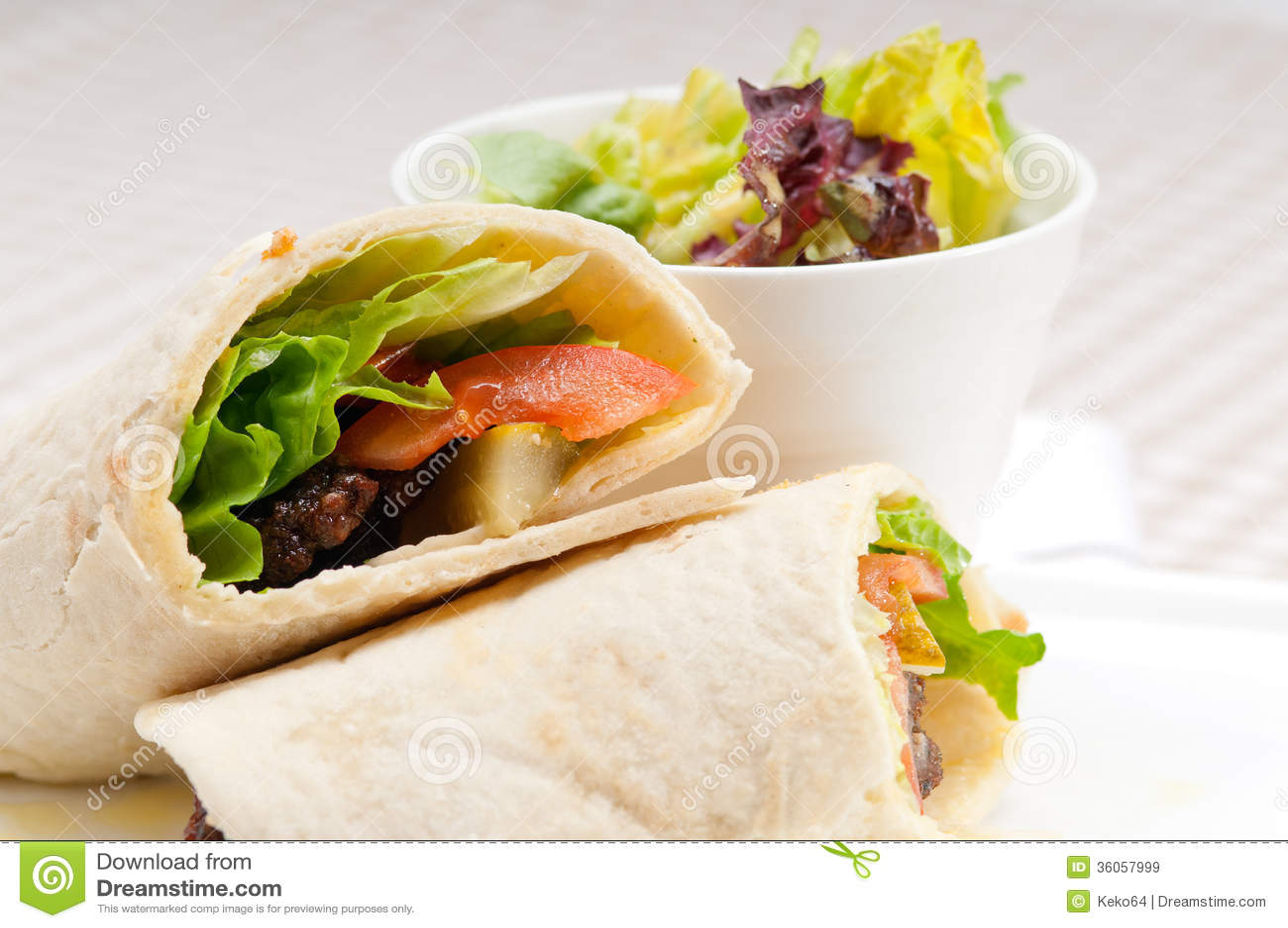 Chicken shawarma roll - photo#36