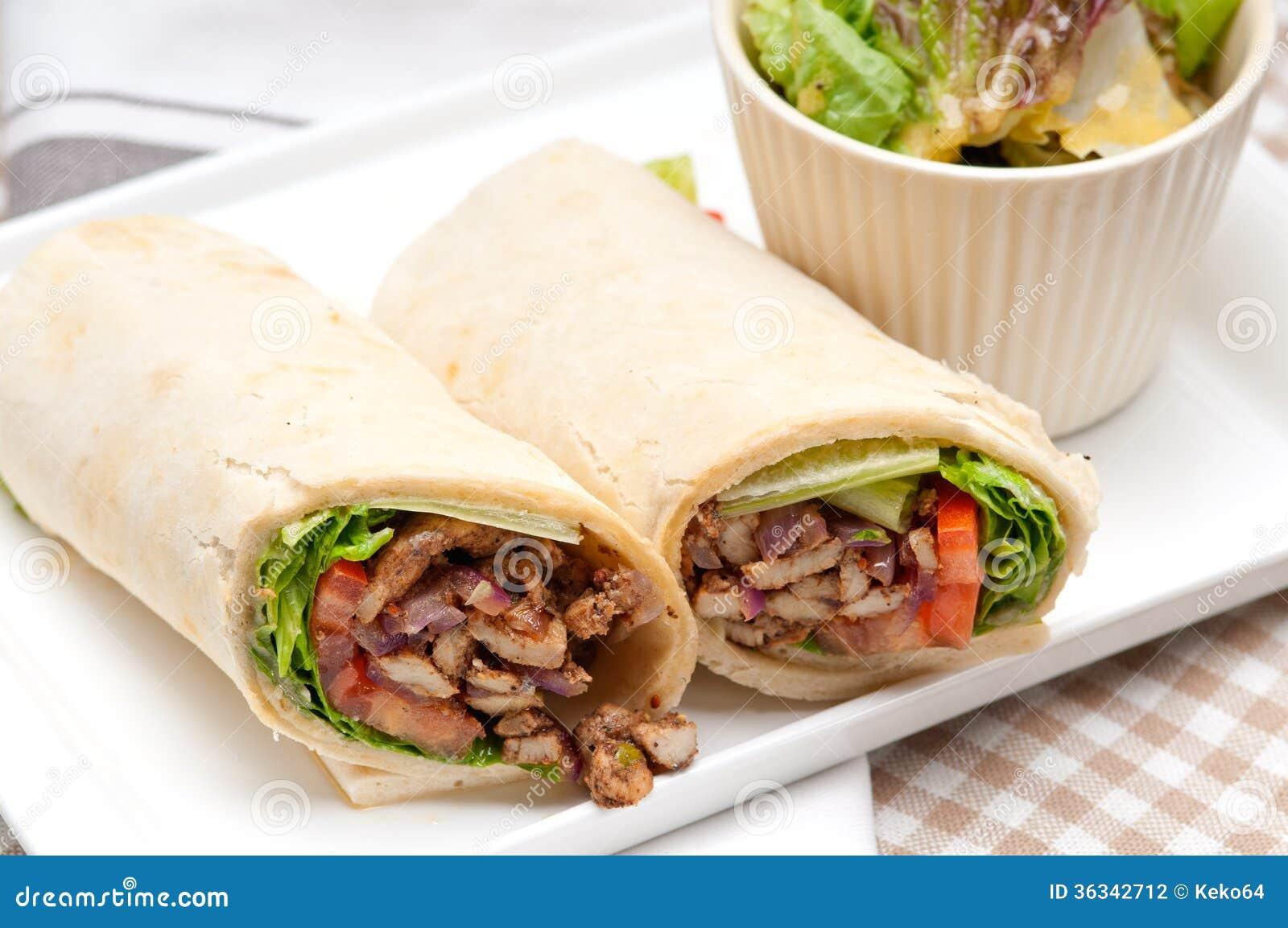 Chicken shawarma roll - photo#7