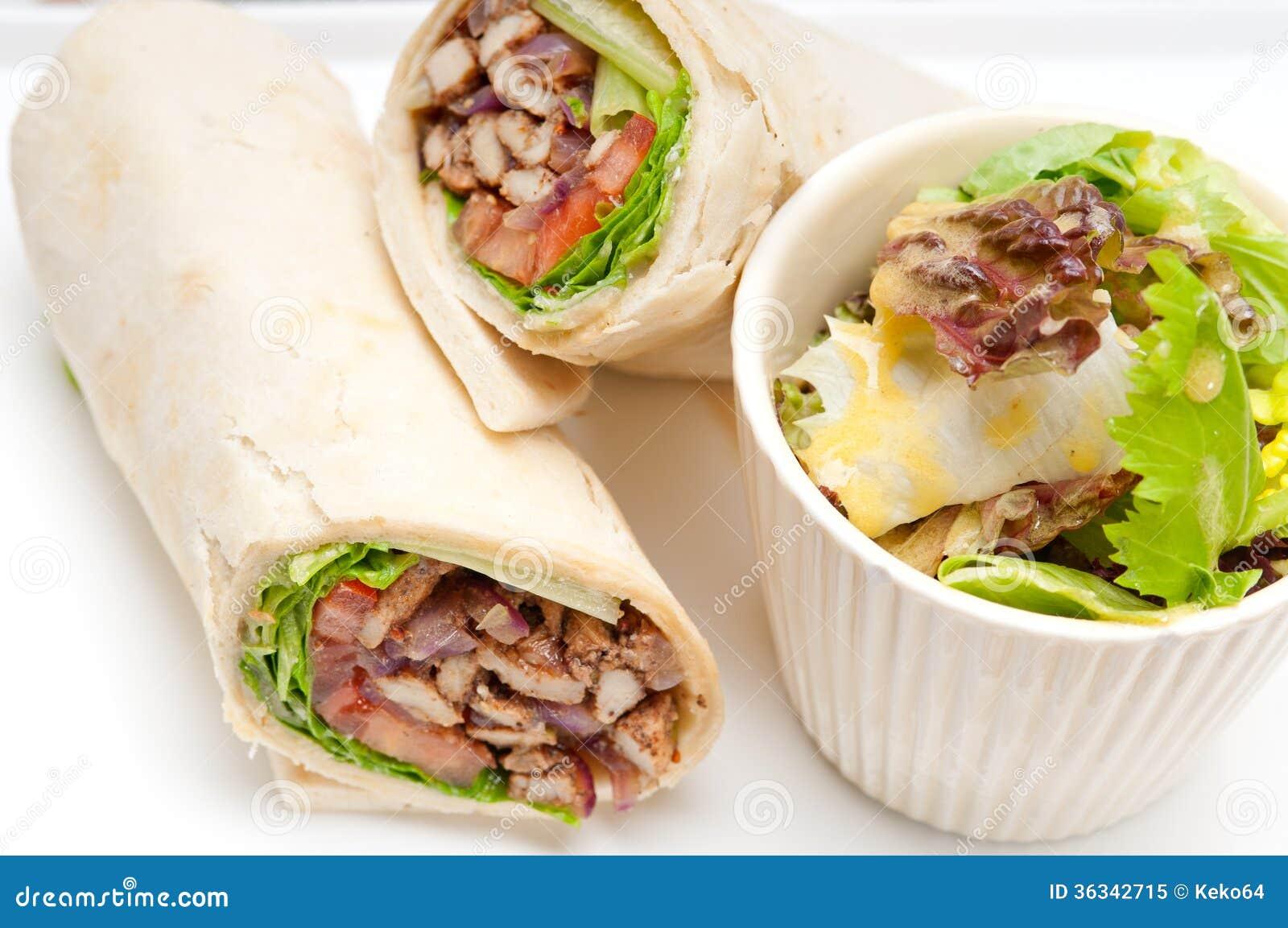 Chicken shawarma roll - photo#24