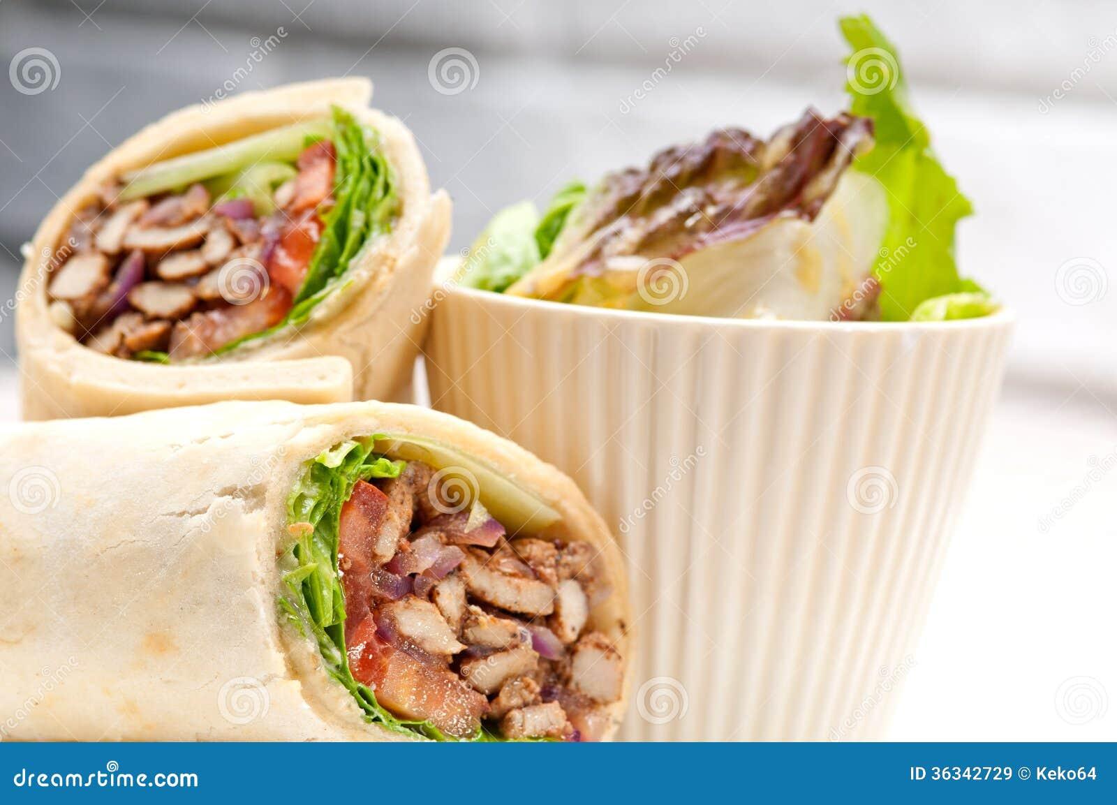 Chicken shawarma roll - photo#20