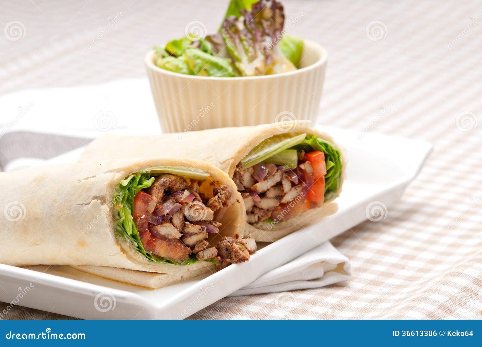 Chicken shawarma roll - photo#18