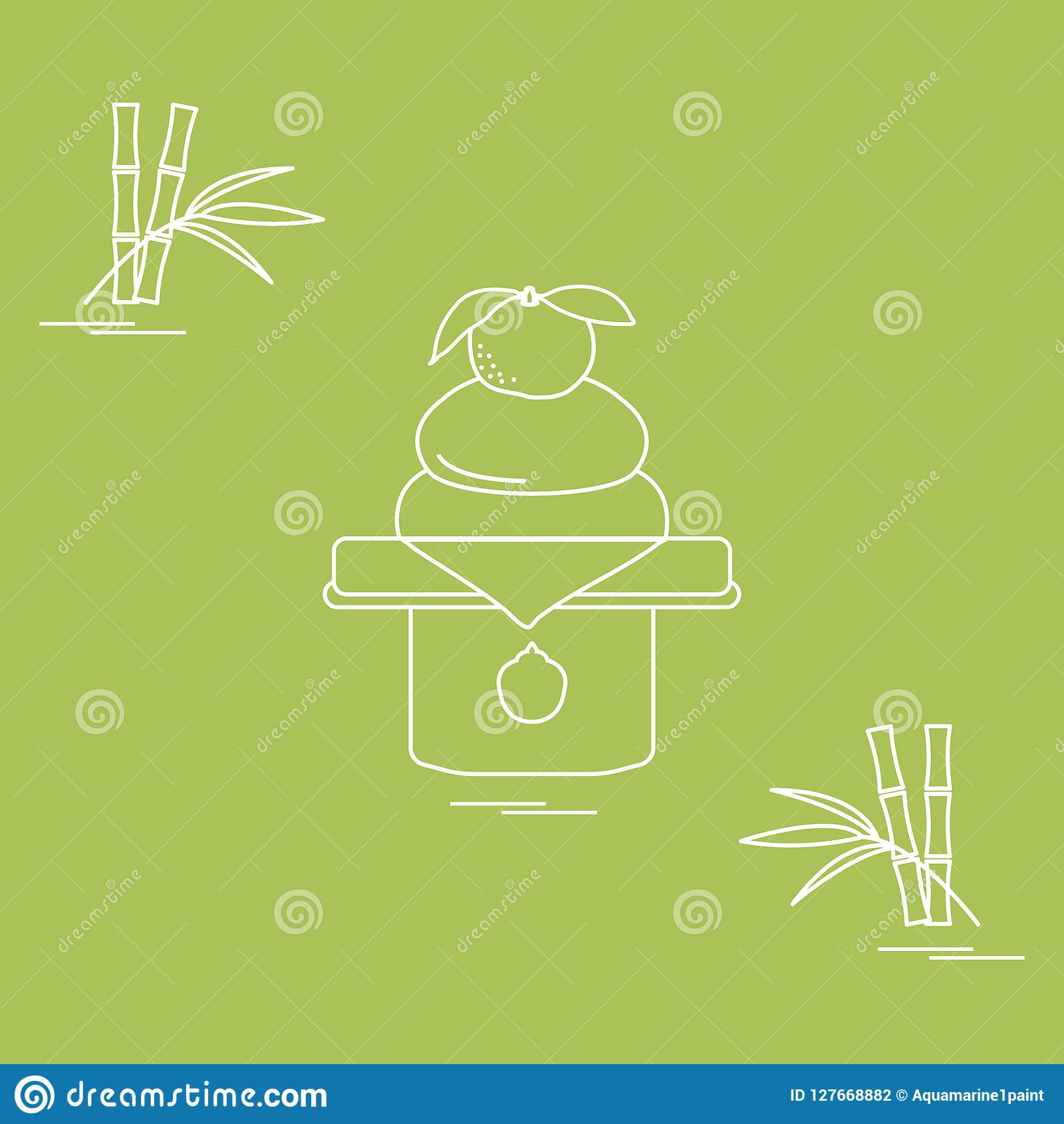 Kagami Mochi - Traditional New Year Treats In Japan. Stock ...