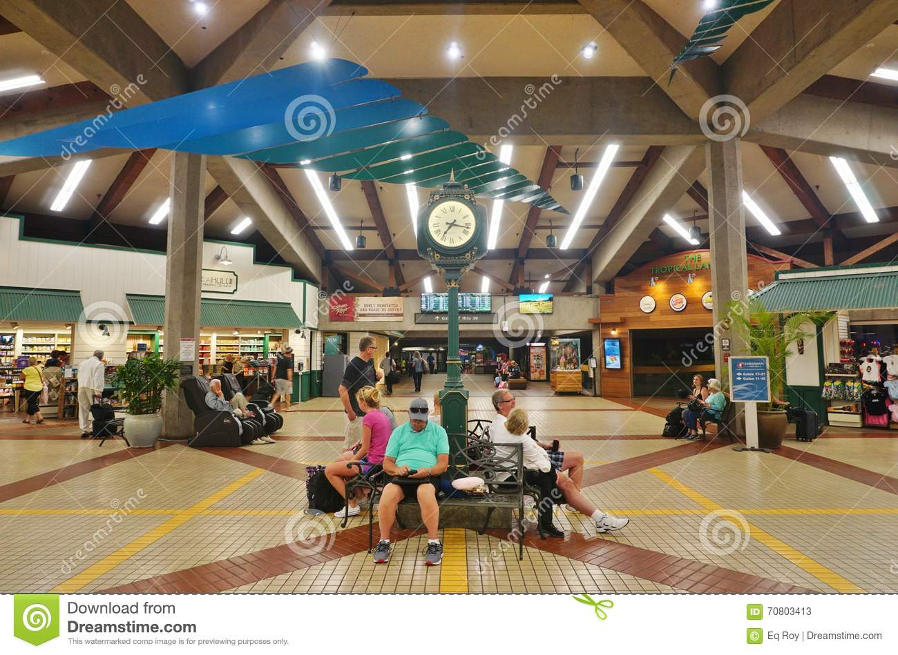 The Kahului Airport Ogg In Maui Hawaii Editorial Stock Photo