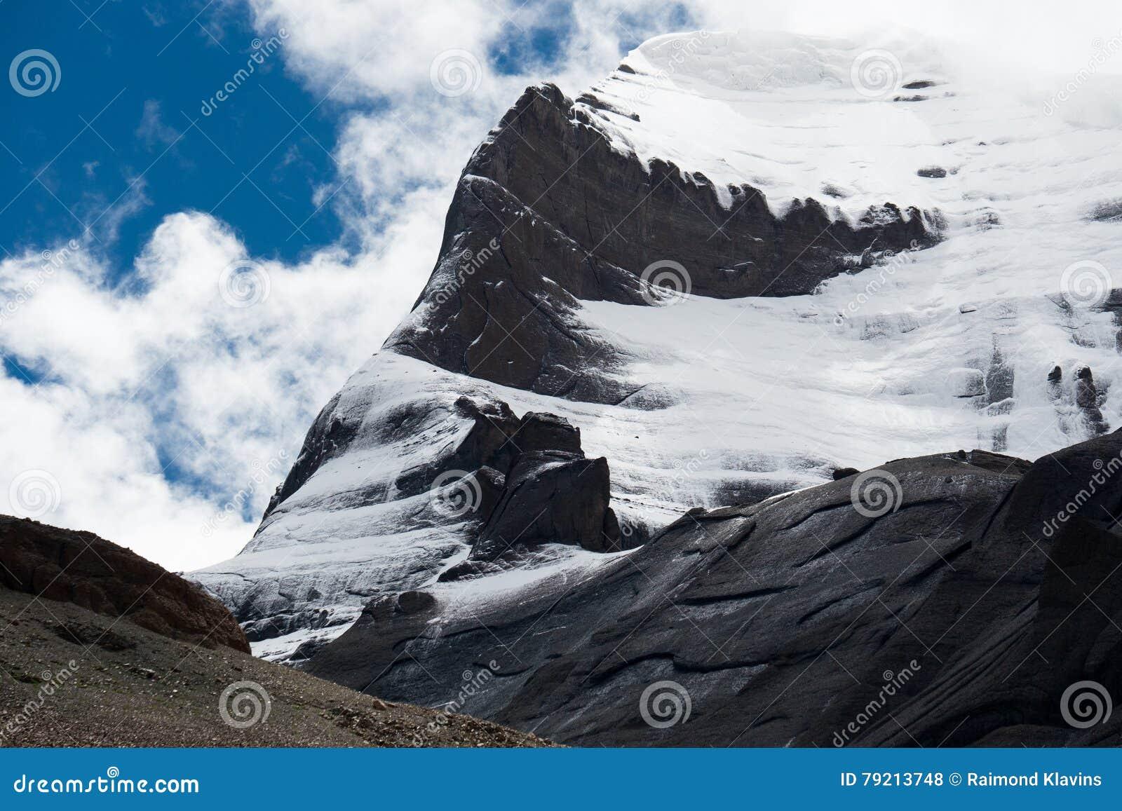 Kailas Himalayas Mountain Tibet Home Of The Lord Shiva Stock