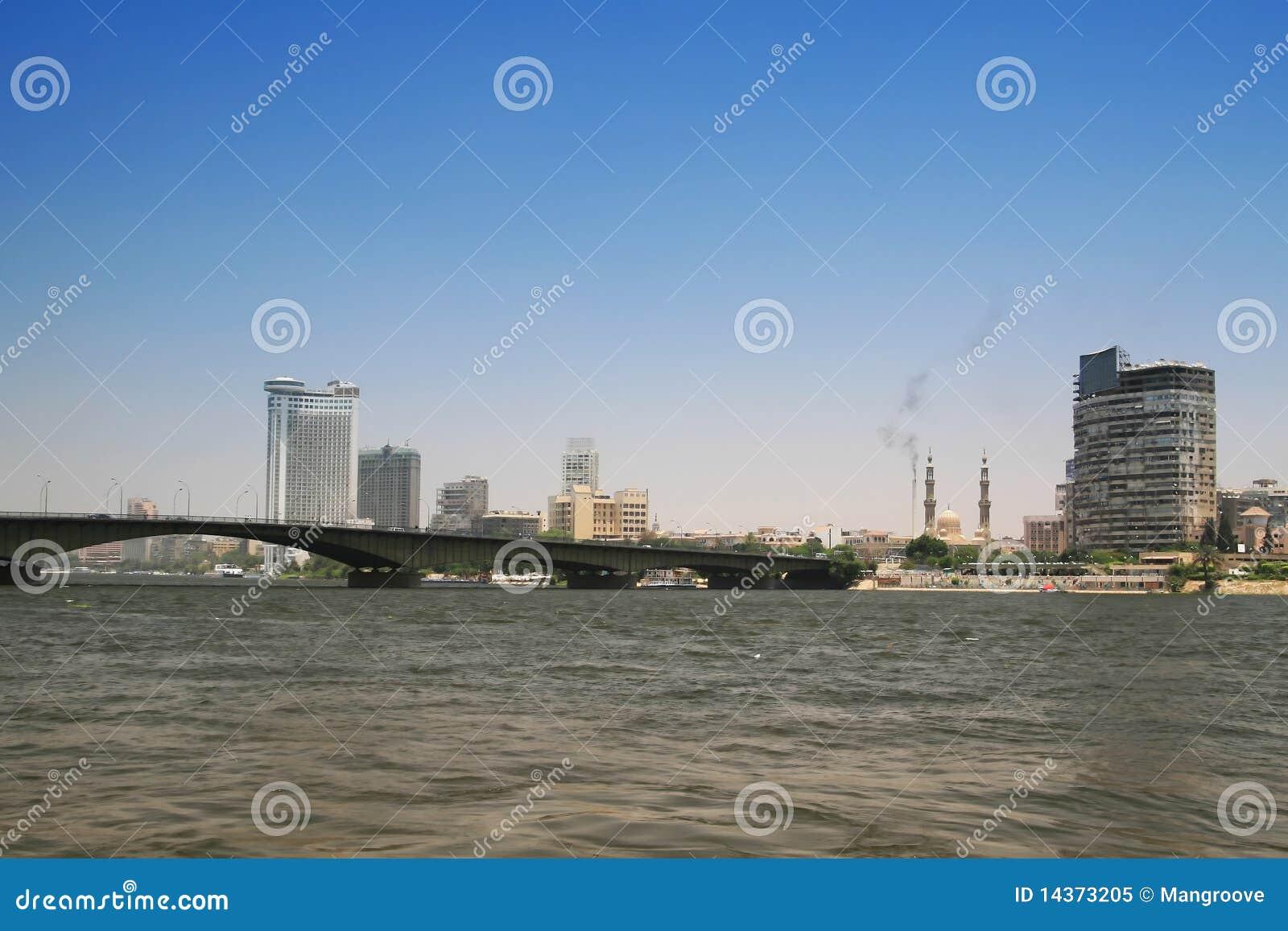 Kairo-Stadt und Fluss Nil