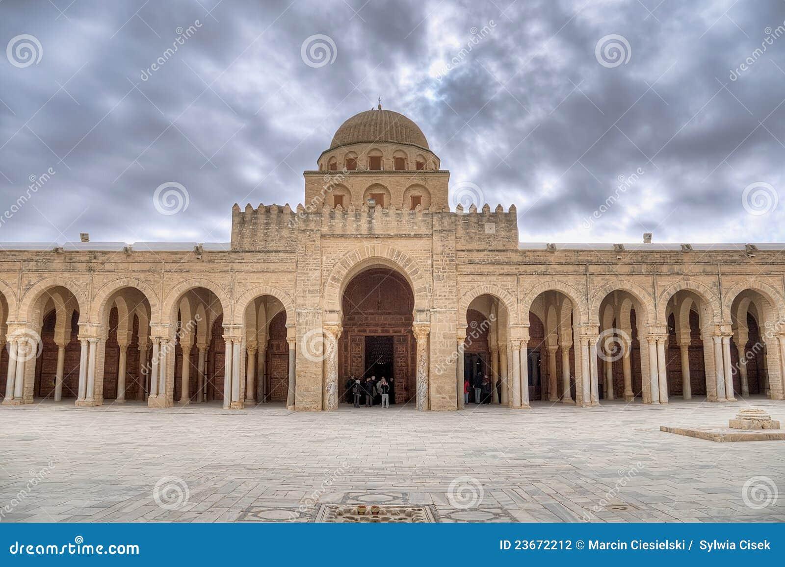 Kairouan moskébön för stor korridor