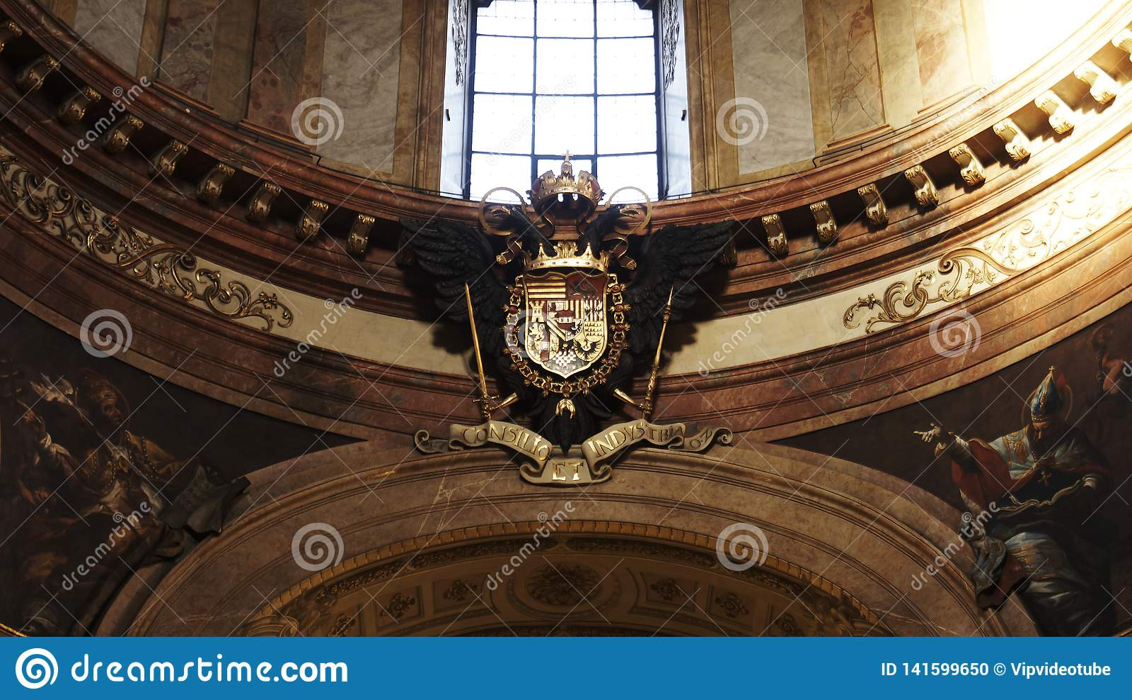 Kaiserwappen am Kaiserpalast Hofburg in Wien