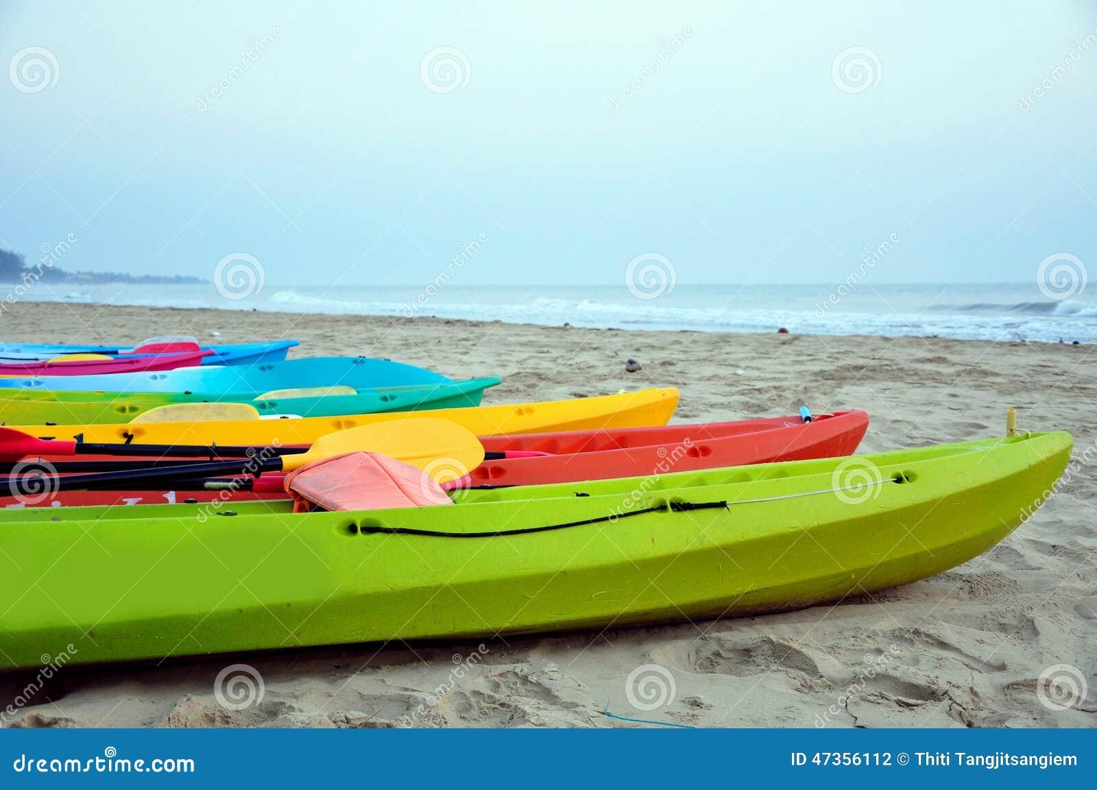 Kajak im Strand