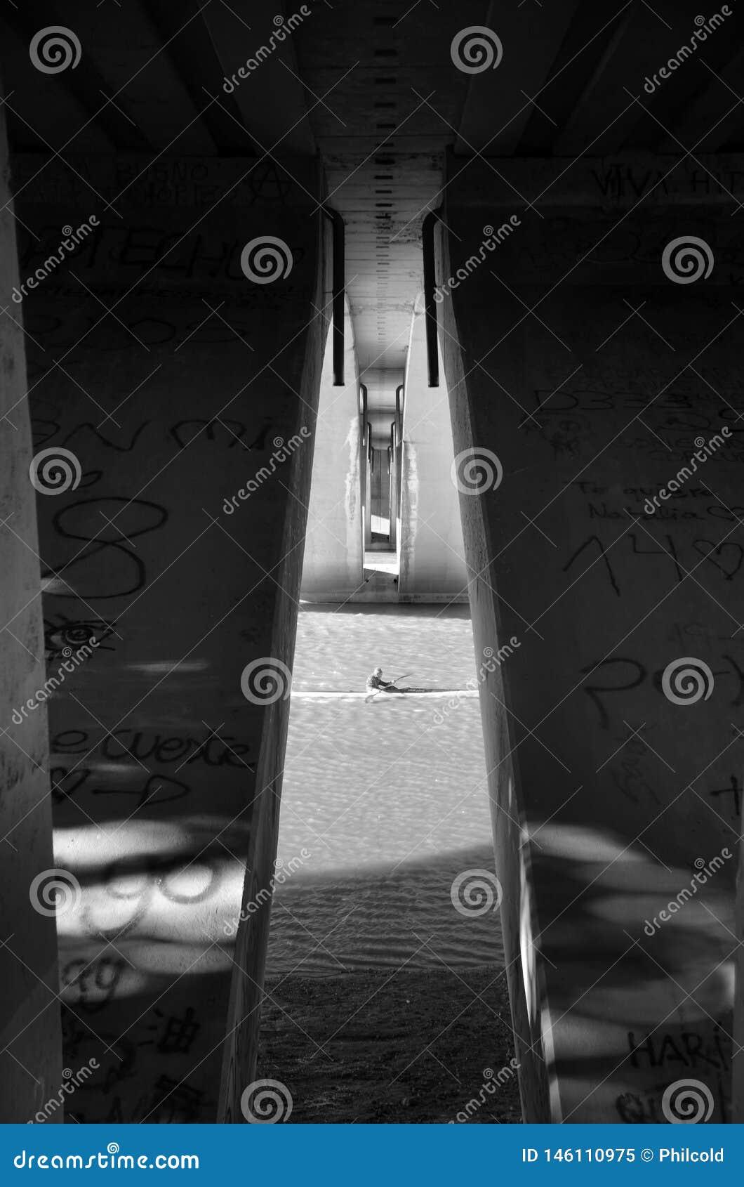 Kajaka biegacz na votation dniu