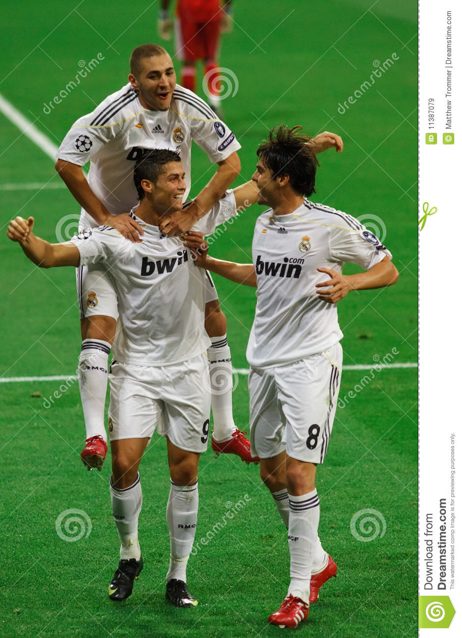 MADRID SEP 30 2009 Cristiano Ronaldo Kaka And Karim Benzema
