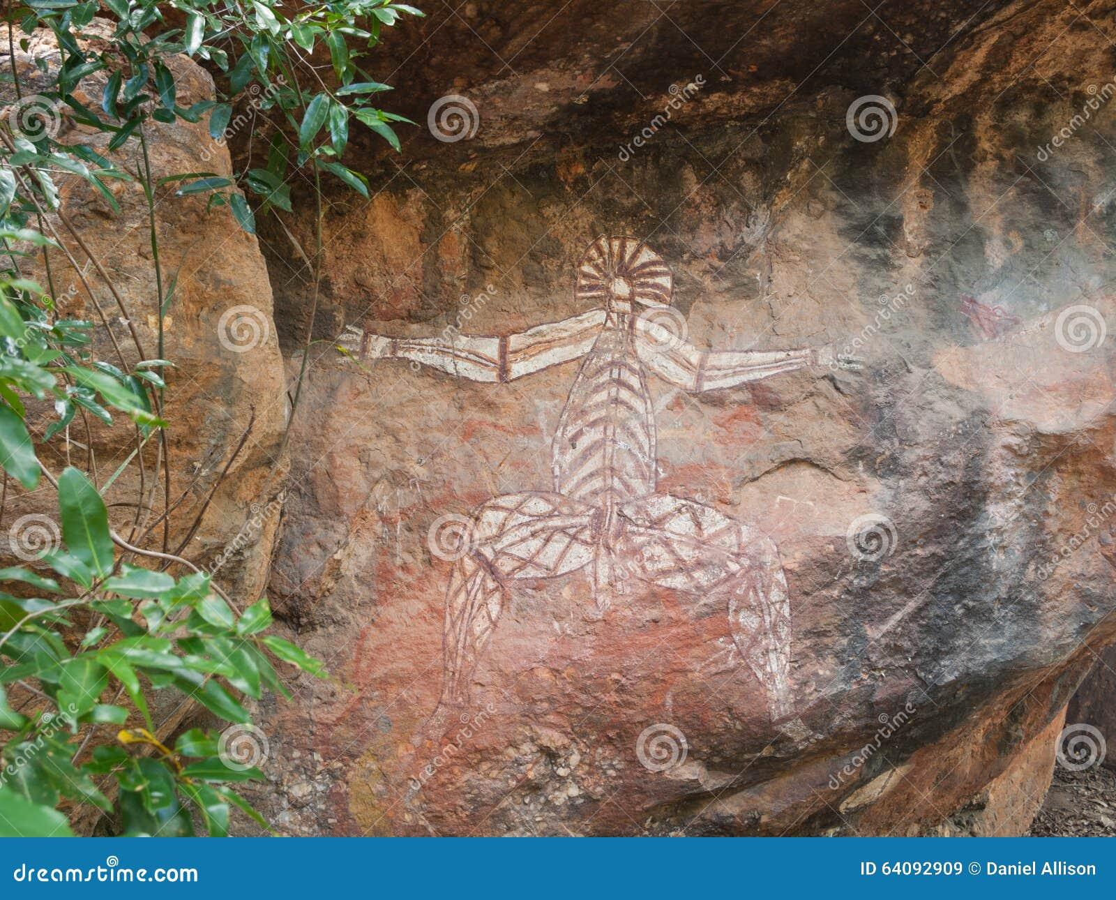 Kakadu, Australie occidentale, 06/10/2013, art indigène de roche dans Nourlangie, parc national de Kakadu, territoires du nord, A