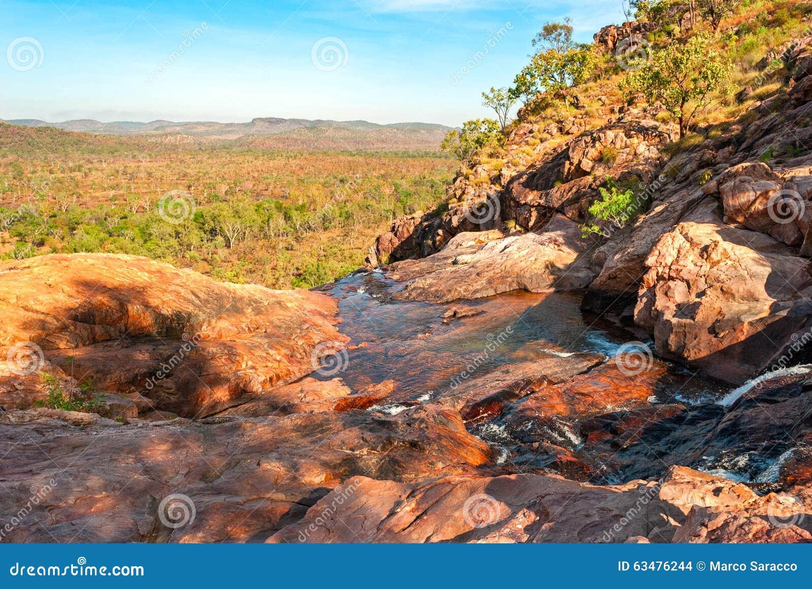 Kakadu parka narodowego krajobraz (terytorium północny Australia)