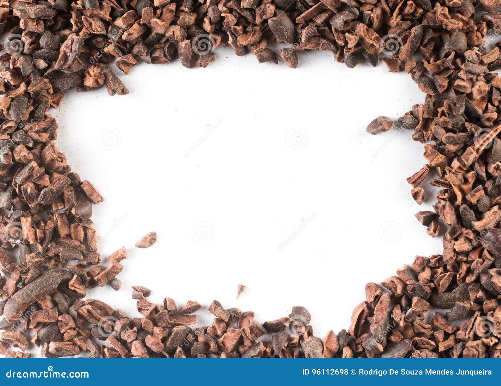 Kakao-Spitzen-Rahmen stockfoto. Bild von nahrung, weiß - 96112698