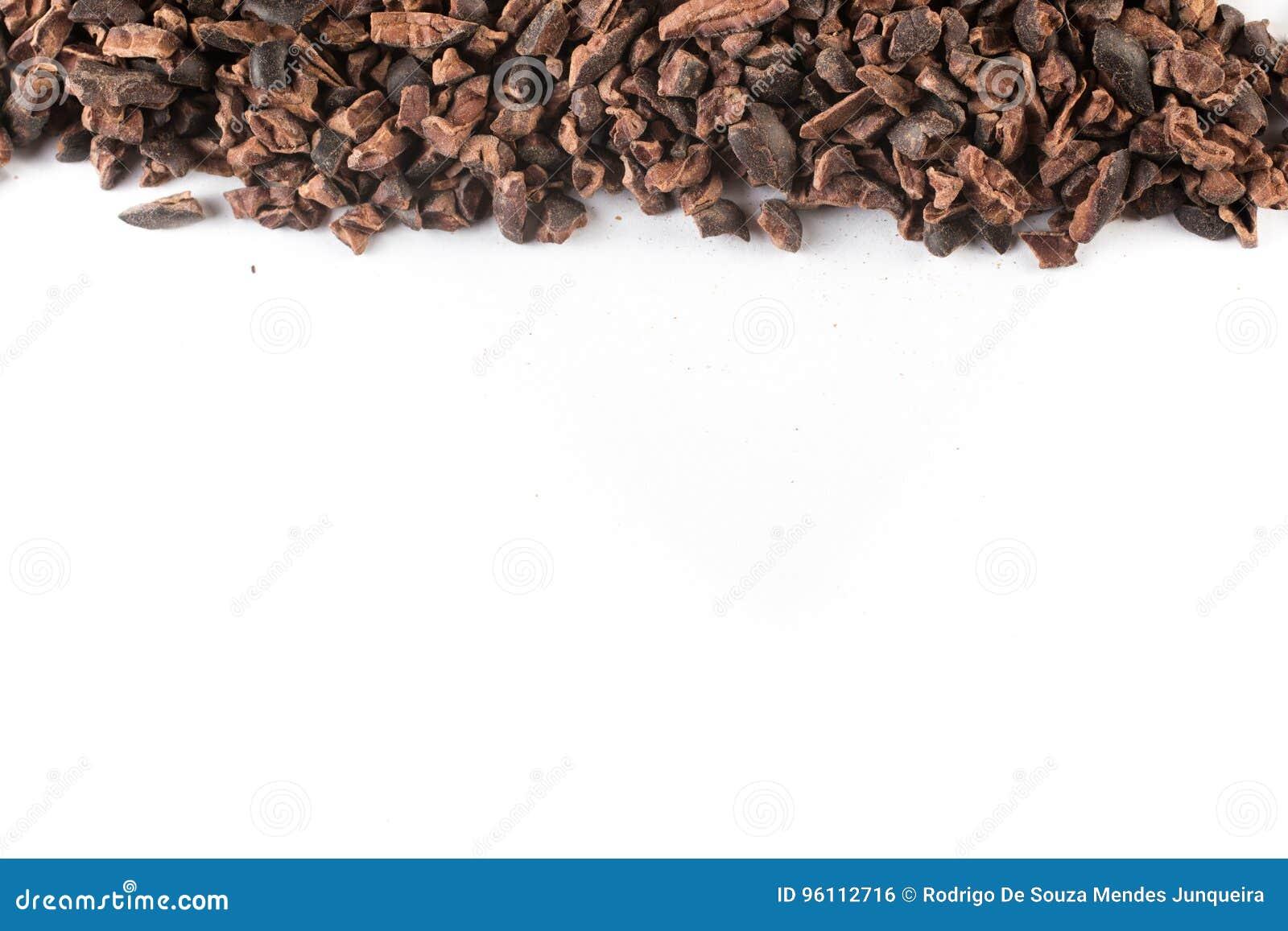 Kakao-Spitzen-Rahmen stockfoto. Bild von haufen, bohne - 96112716