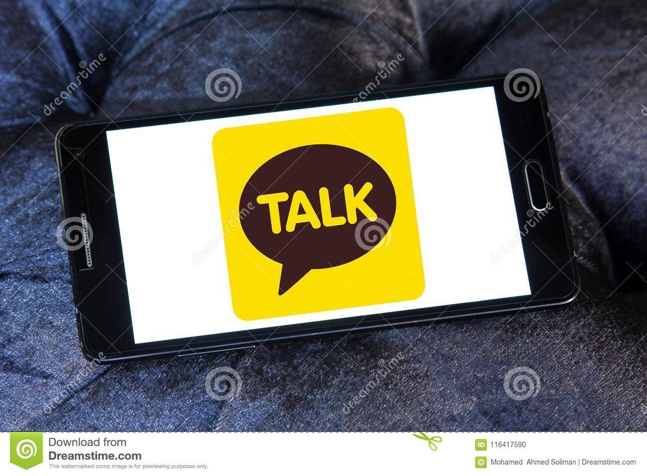 KakaoTalk application logo editorial image  Image of instant