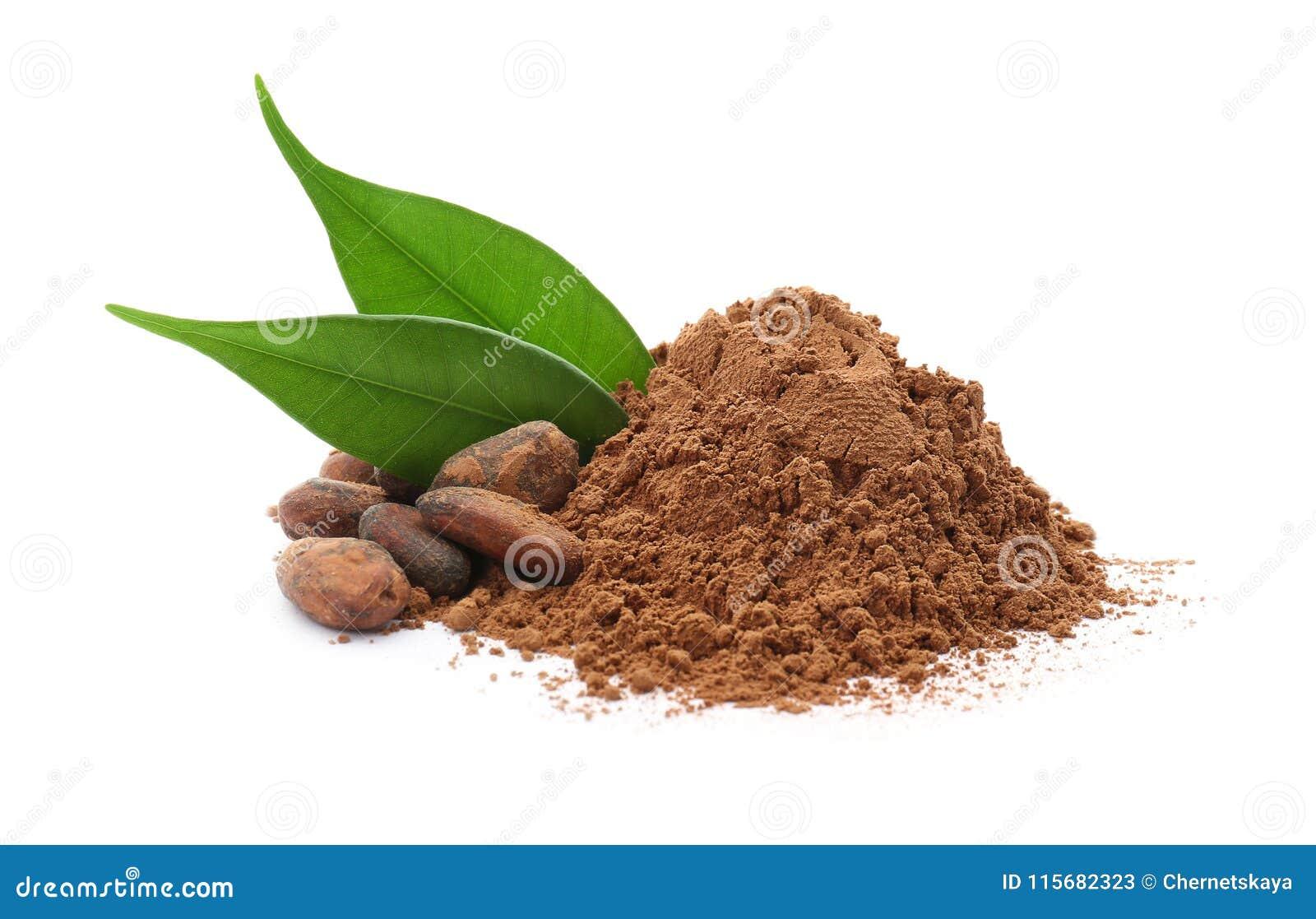Kakaowy proszek i fasole