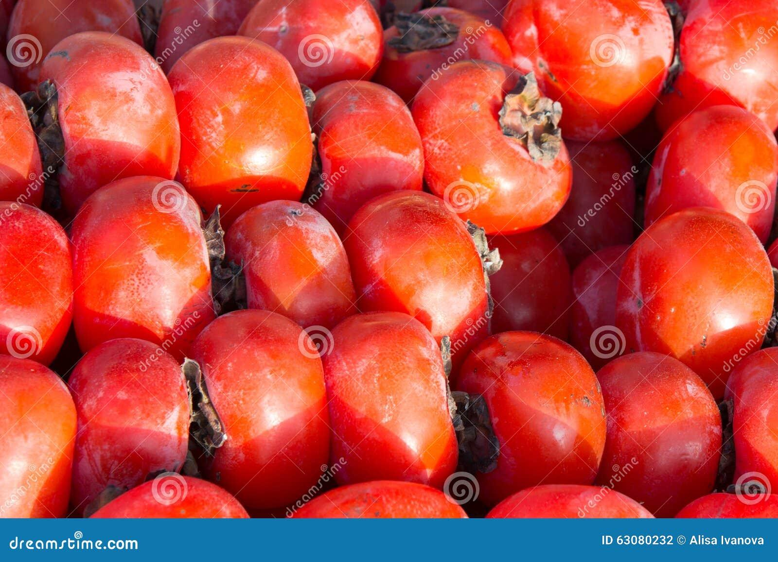 Download Kaki photo stock. Image du nutritif, juteux, comestible - 63080232