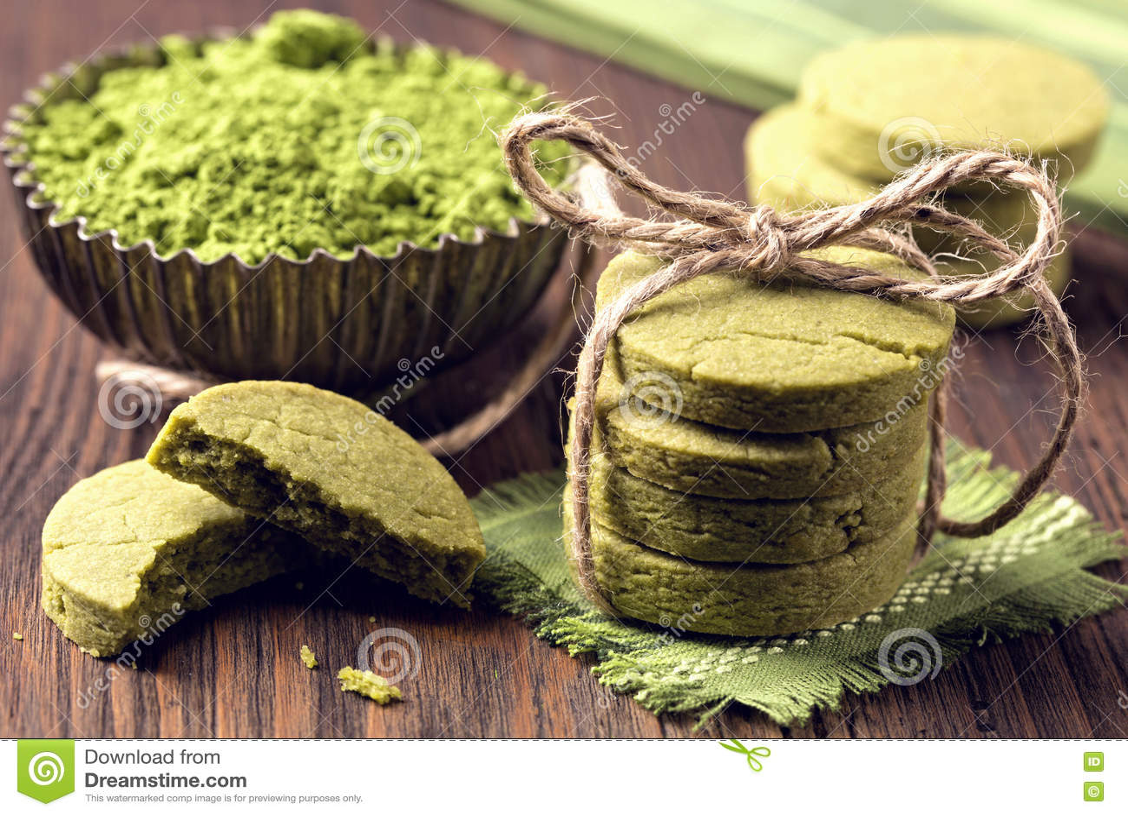 Kakor Matcha för grönt te