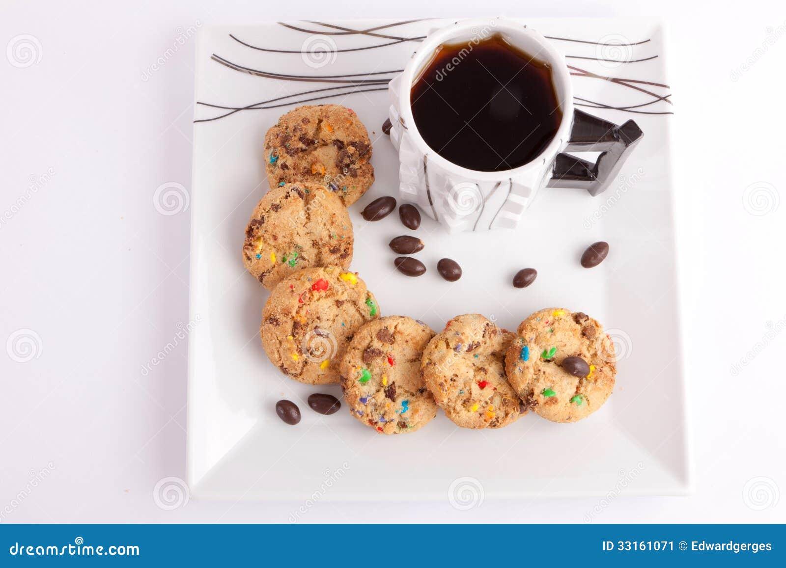 Kakor och choklad med te