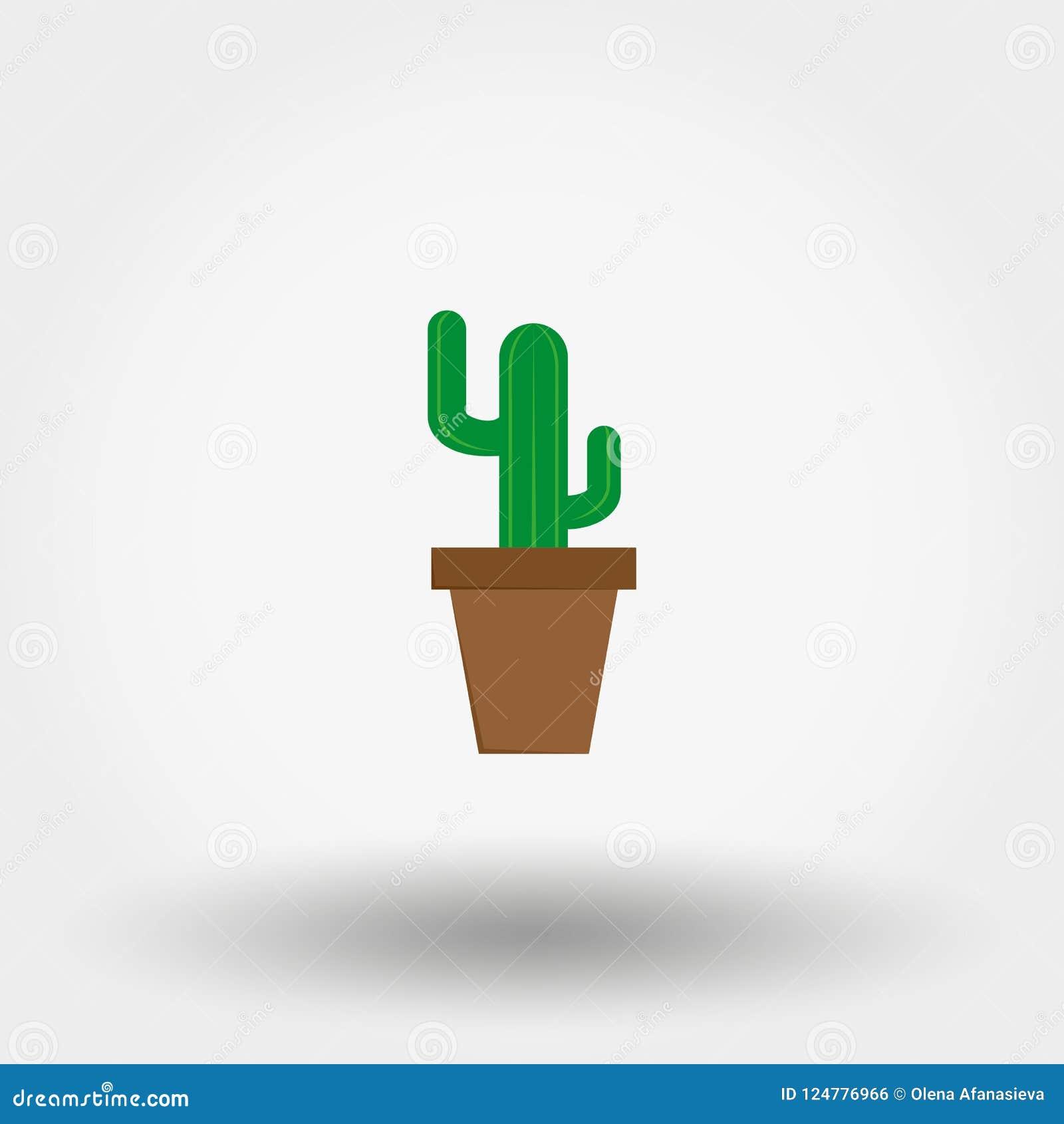 Kaktus i en blomkruka Inomhus växt