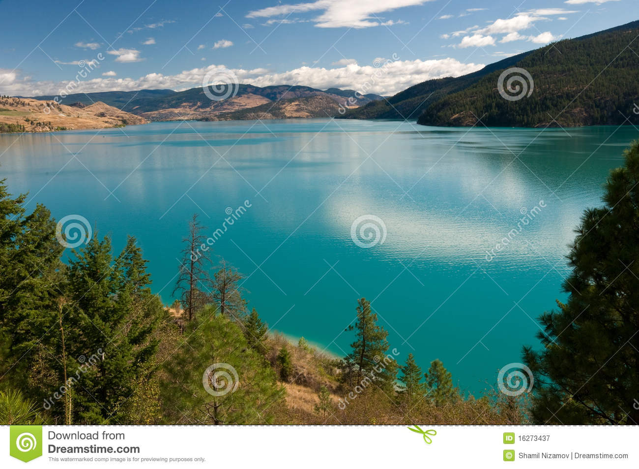 Kalamalka Lake, Okanagan, BC, Canada Royalty Free Stock