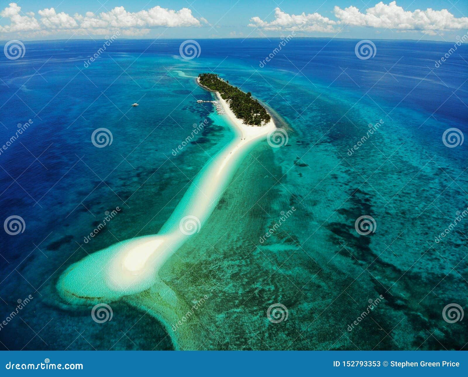 Kalanggaman wyspa z góry - Filipiny
