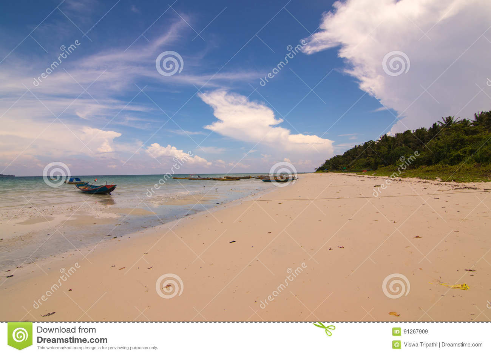Kalapattar strand på den Havelock ön