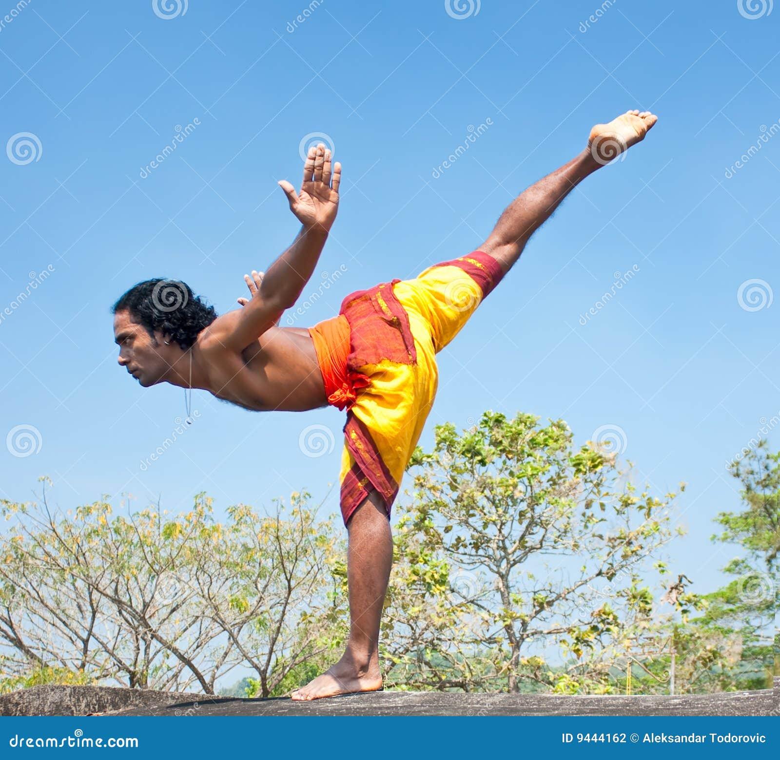 Kalarippayat Indian Ancient Martial Art Of Kerala Stock