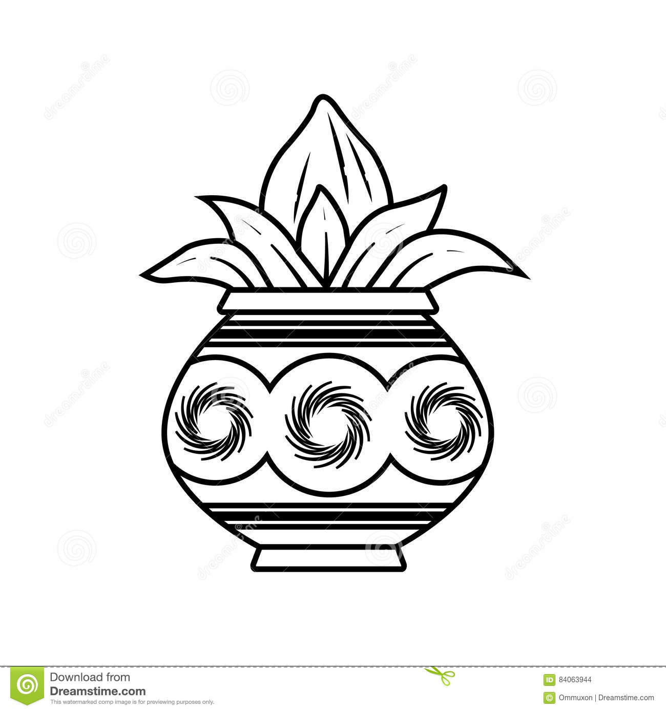 Kalash stock vector. Image of coconut, kalash, beautiful ...