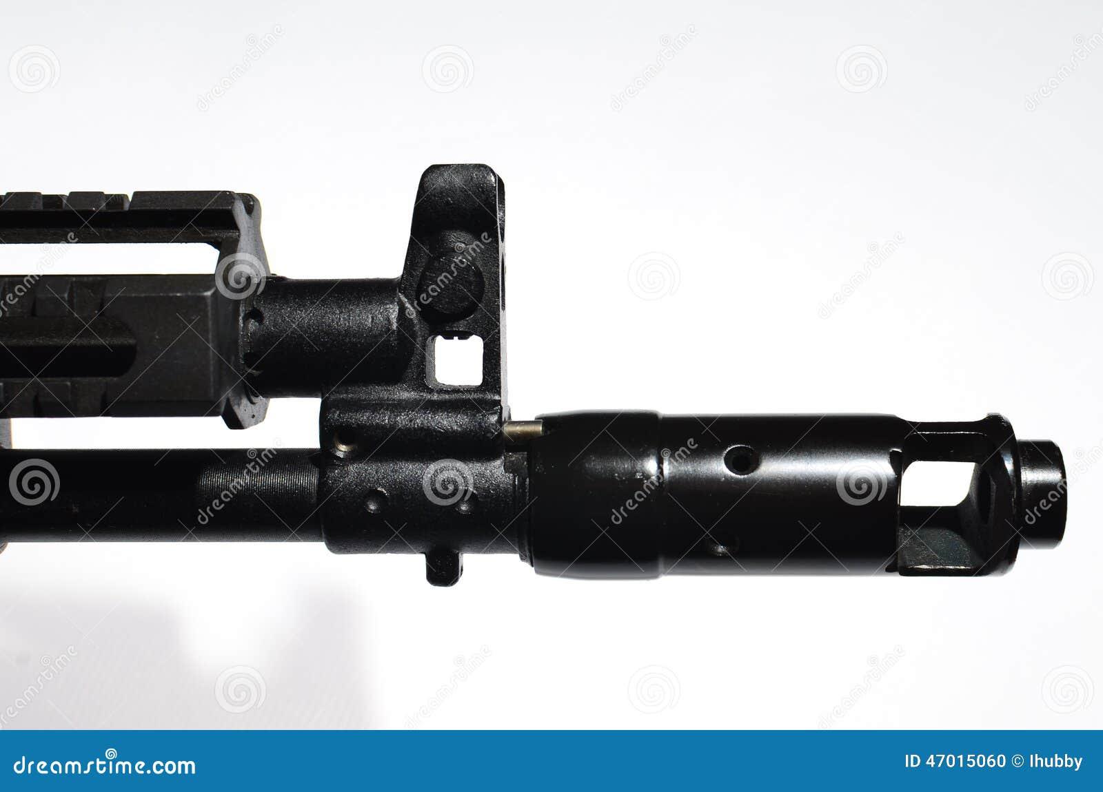 Kalashnikov muzzle stock photo  Image of sight, isolated - 47015060