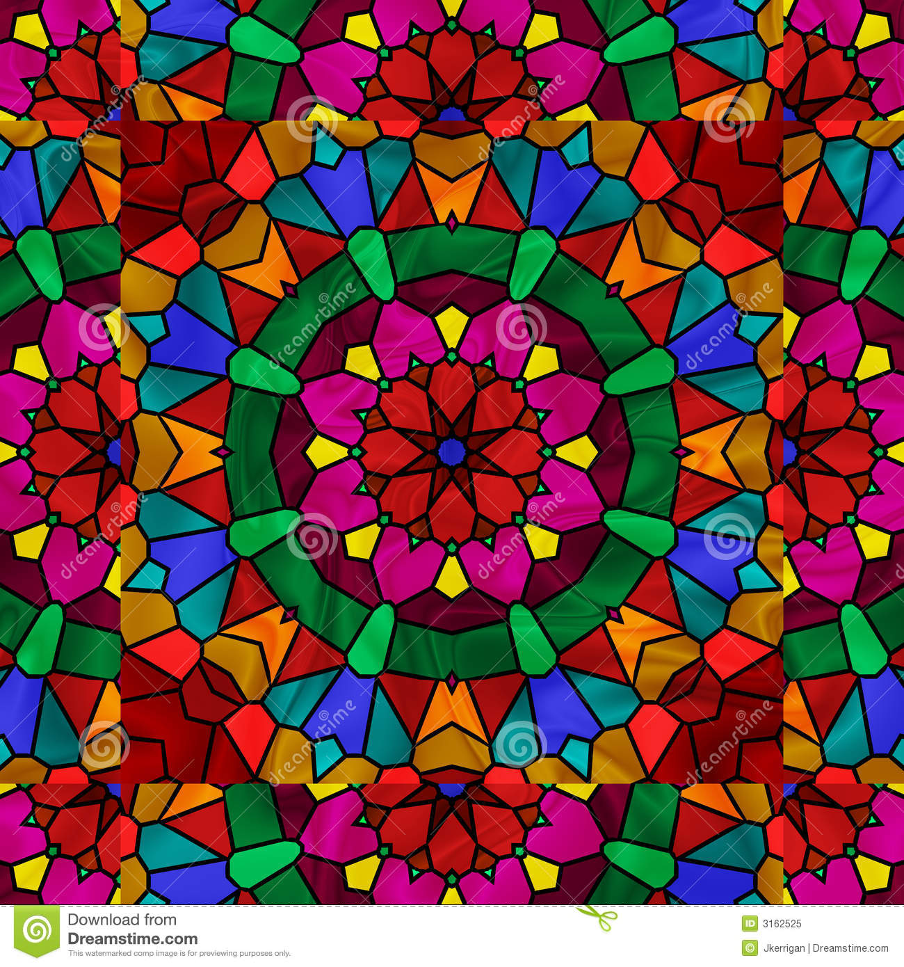 Blue glass window texture stained glass window texture - Kaleidoscope Royalty Free Stock Photo Image 3162525