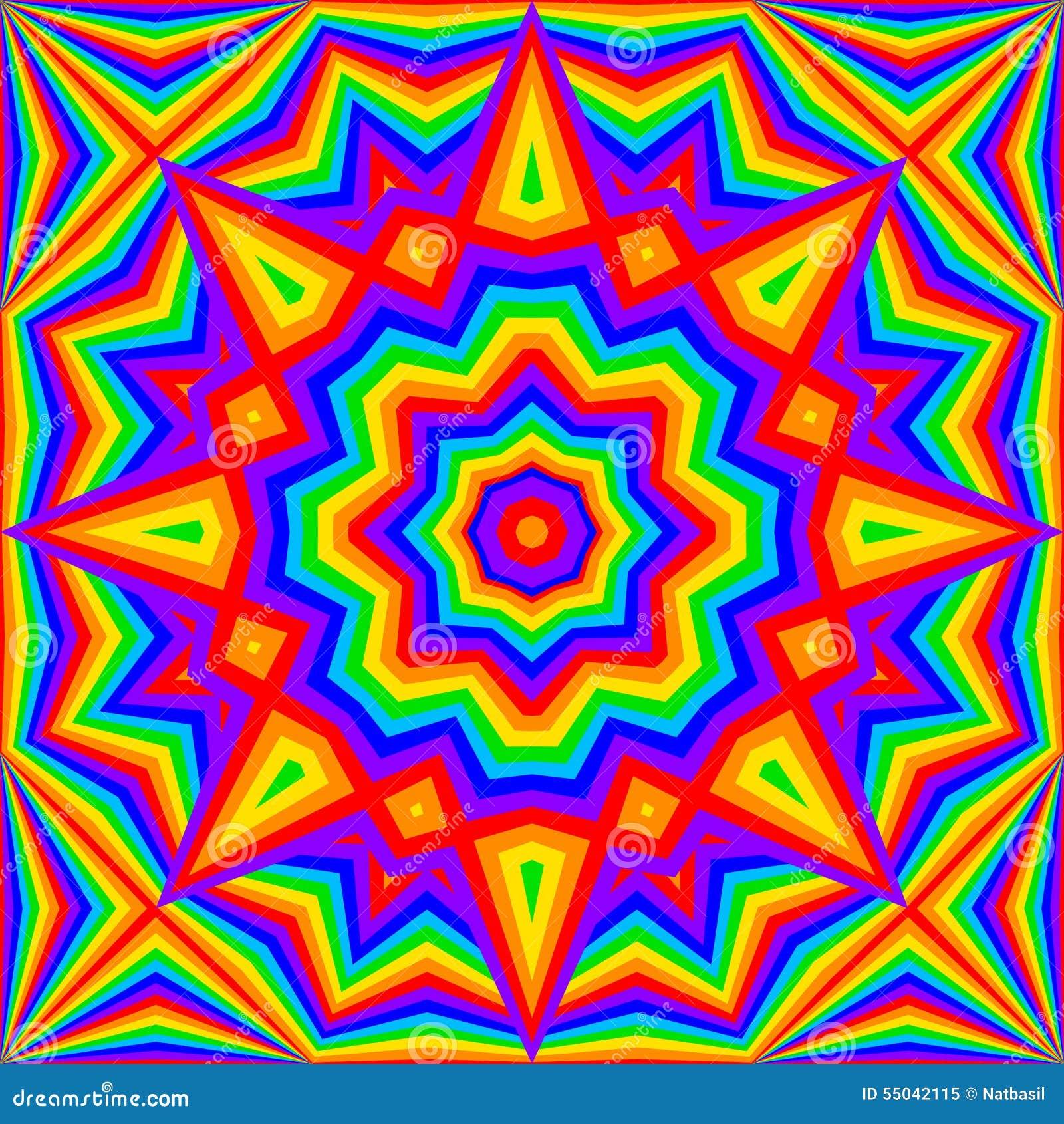 Kaleidoscope Bright Rainbow Background Stock Vector Image 55042115