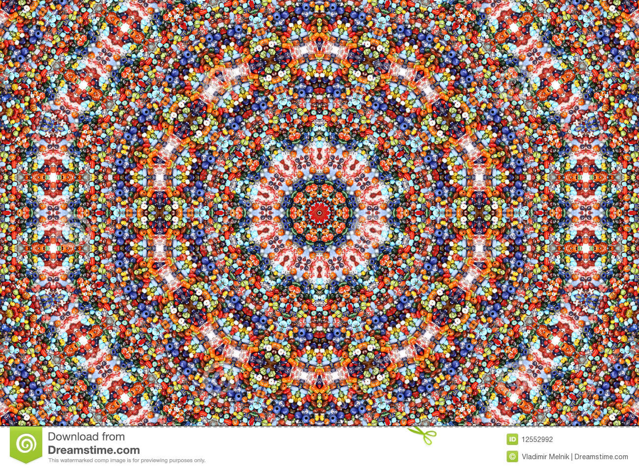 Kaleidoscope Of Color And Pattern Stock Photography - Image: 12552992