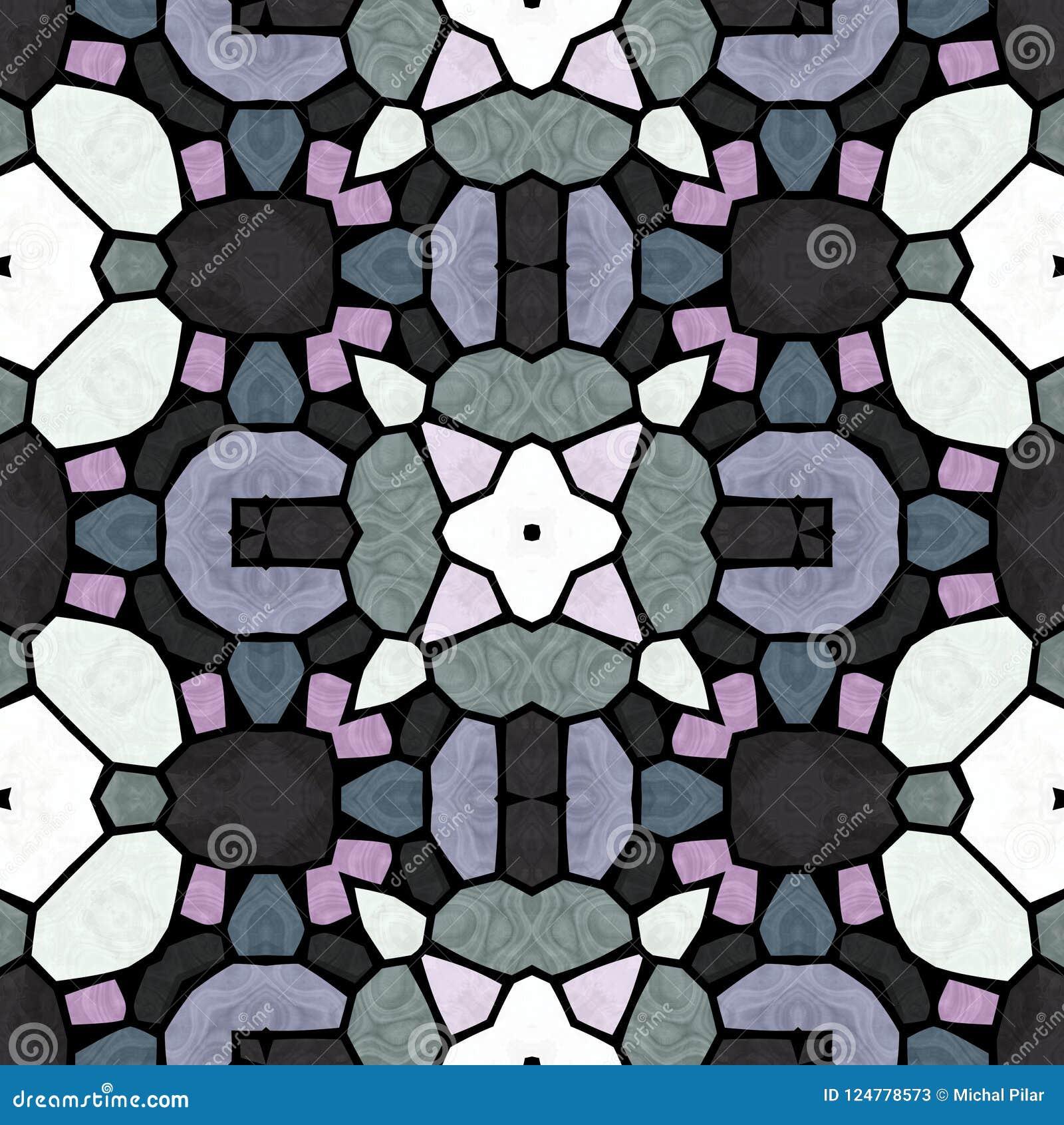 Kaleidoscopic πολύχρωμη άνευ ραφής αφηρημένη σύσταση mandala