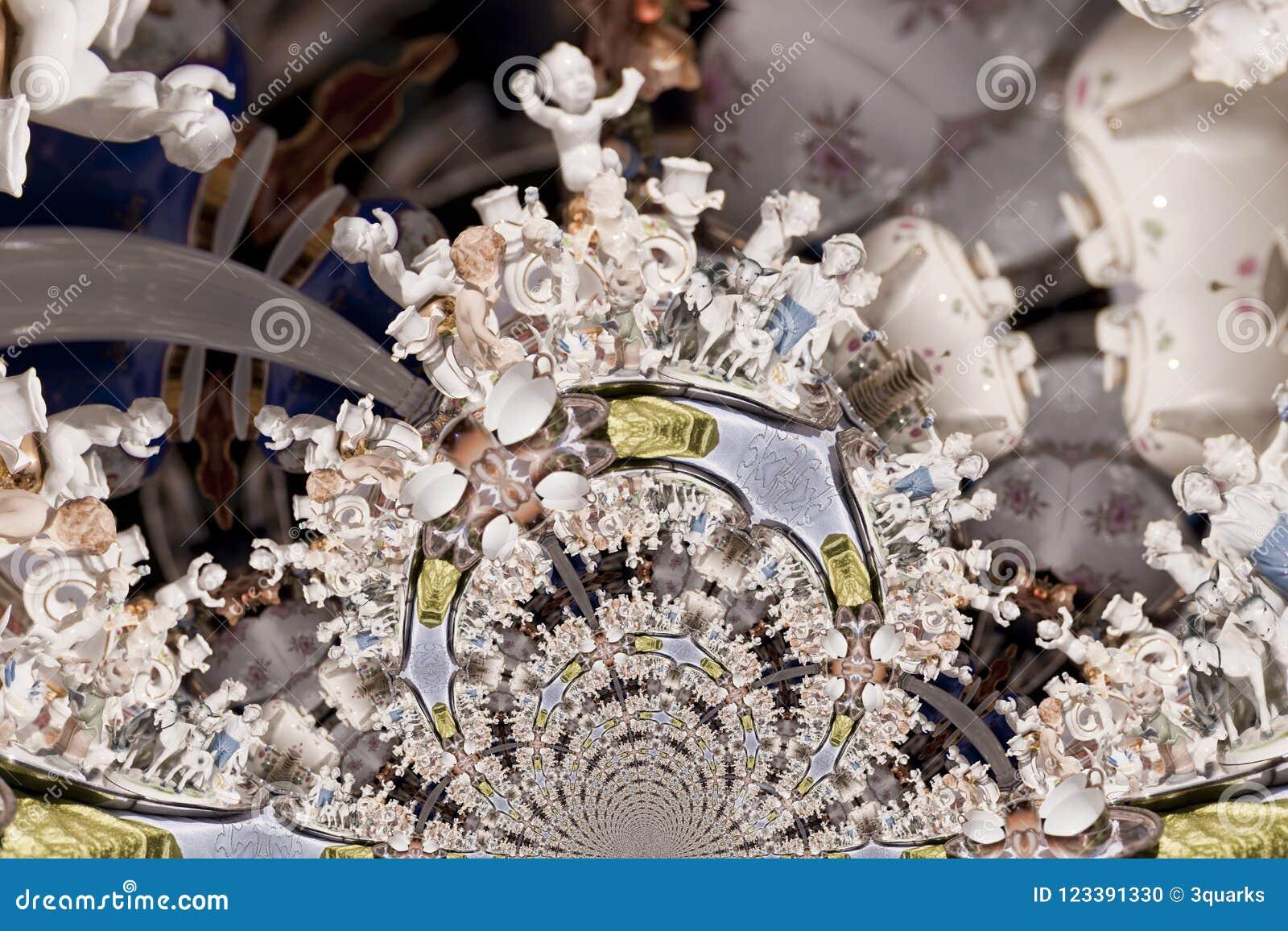 Kaleidoskopisches Muster eines Durcheinander-Verkaufs