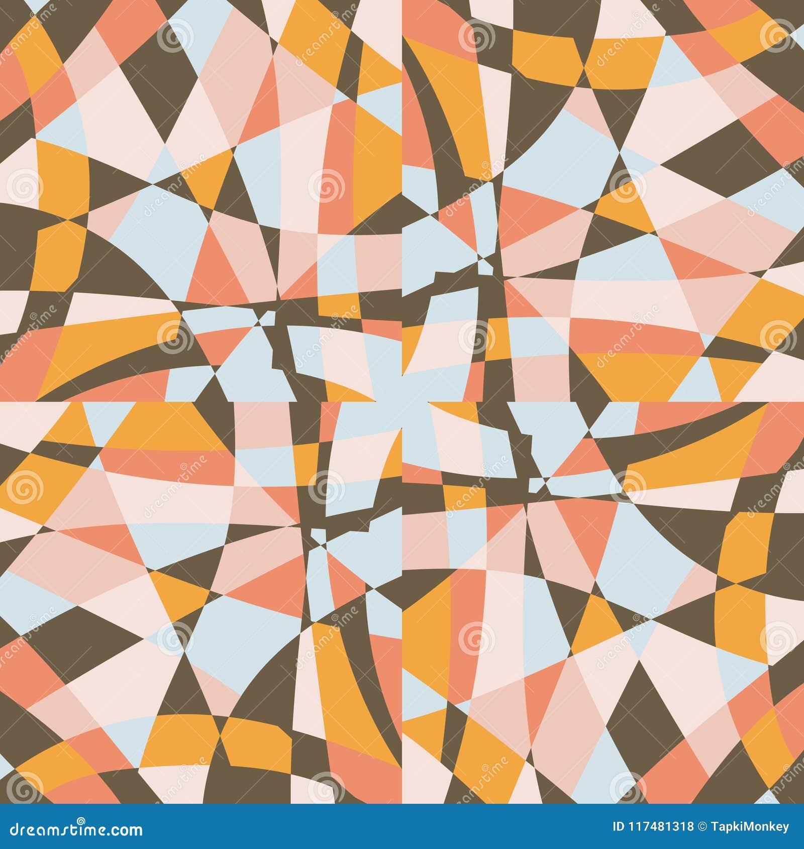 Kaleidoskopmosaikfliesen-Hintergrundvektor-Musterdesign