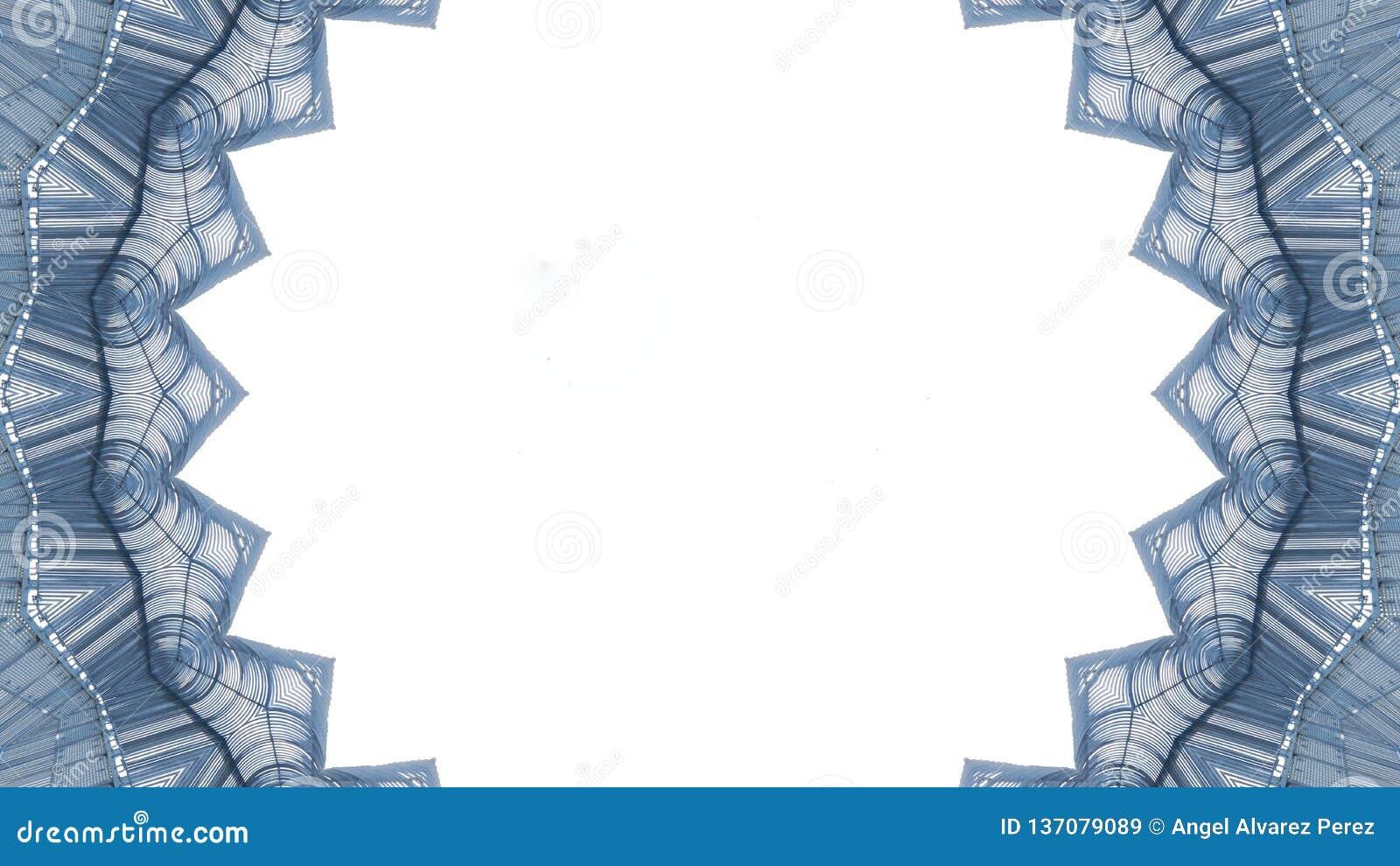 Kalejdoskopowy skutek na białym tle