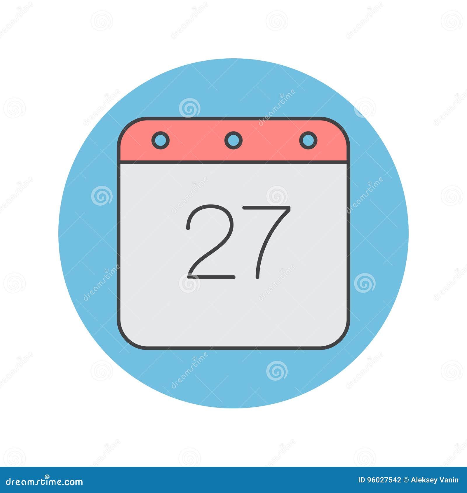 Kalendarz cienka kreskowa ikona, wypełniająca konturu loga wektorowa ilustracja