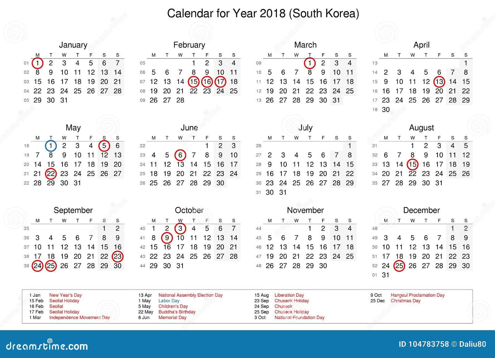 Kalendarz Rok 2018 Z świętami Państwowymi I Dniami Wolnymi