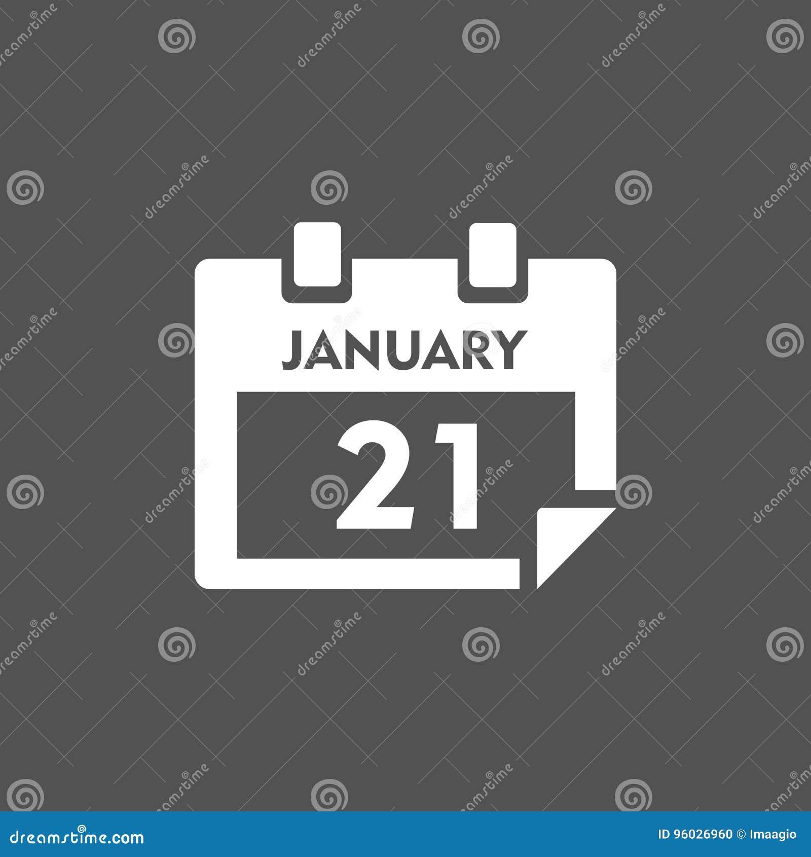 Kalendarzowa ikona z cieniem